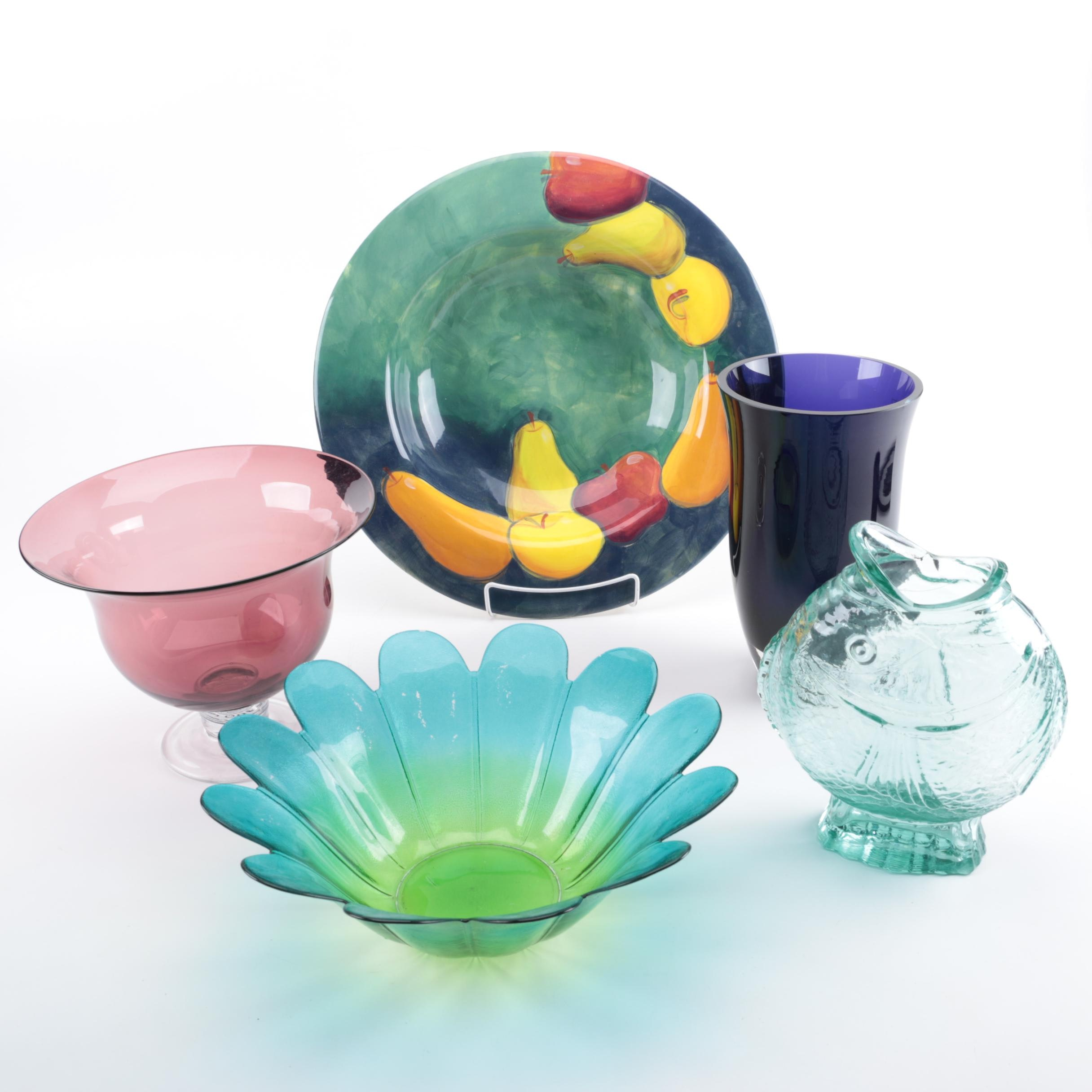 Home Decor Collection Featuring an Art Glass Variety