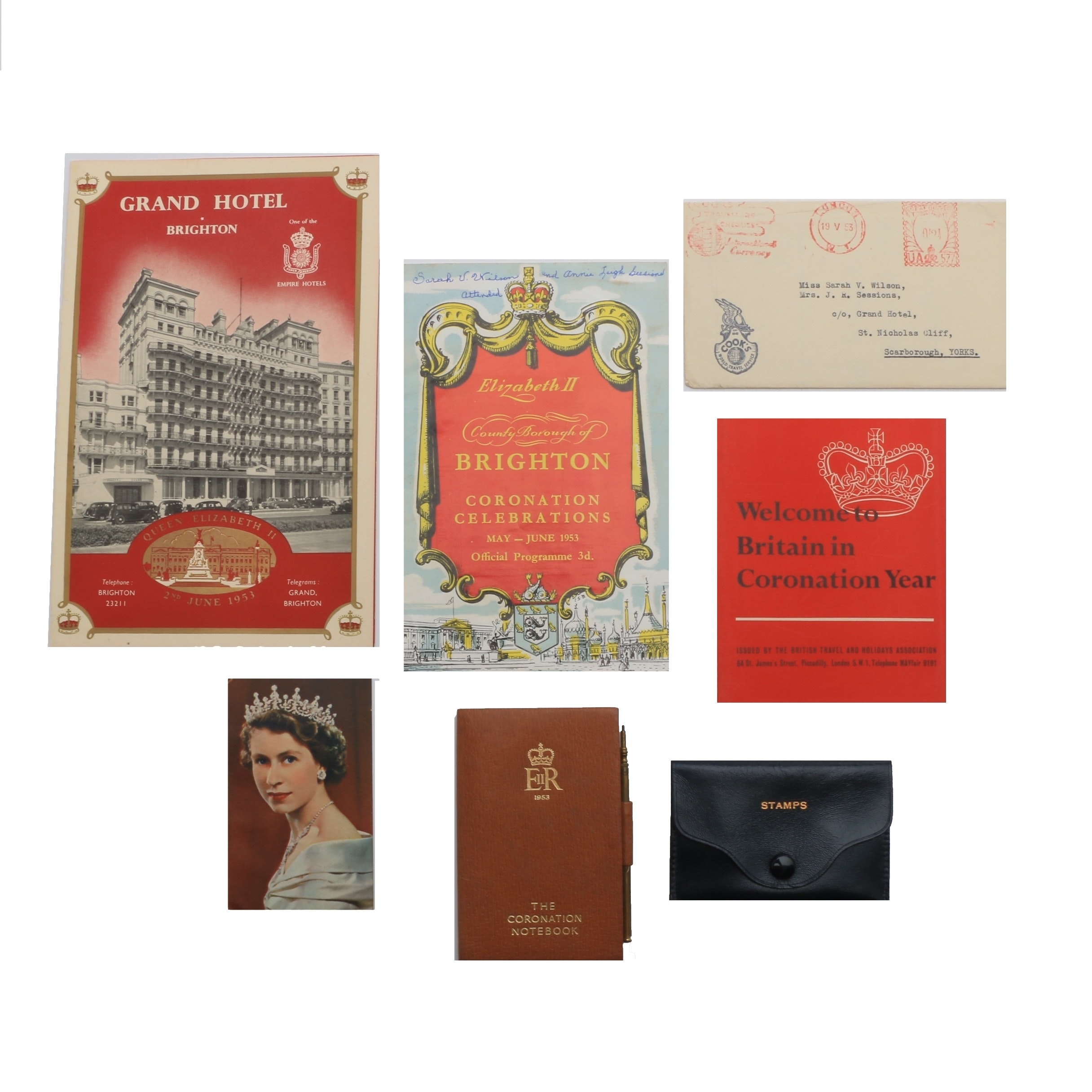 Ephemera from Queen Elizabeth II Coronation May-June 1953