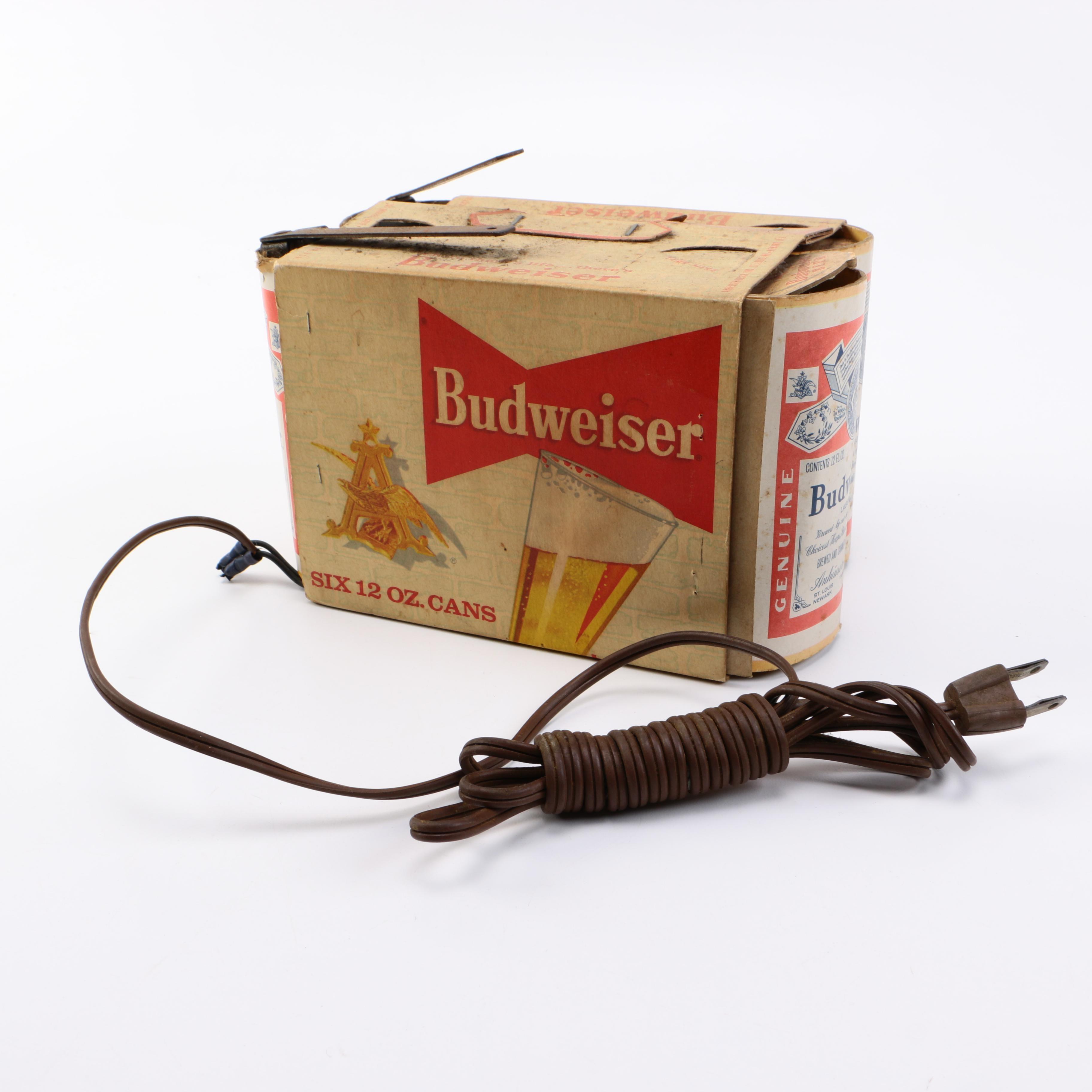 Vintage Budweiser Six-Pack Lamp