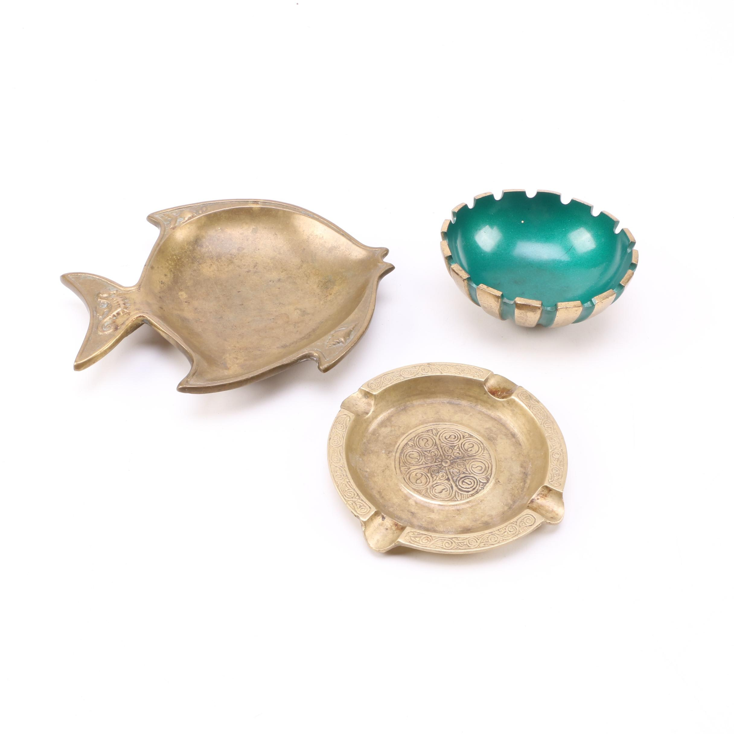 Decorative Brass Dishes and Ash Trays