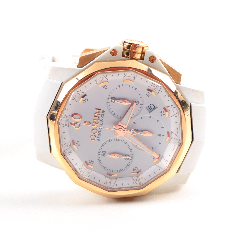 Corum 18K Rose Gold Admiral's Cup 27 Jewels Wristwatch