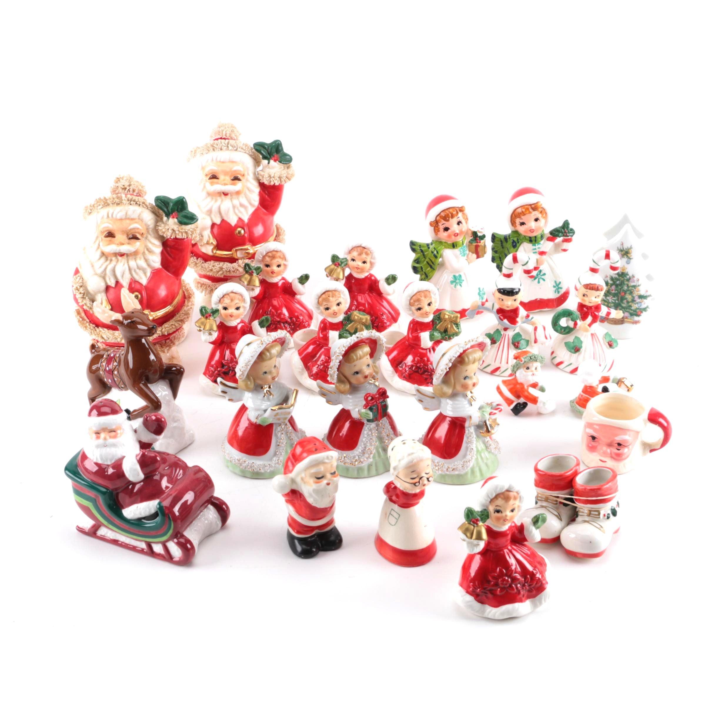 Vintage Holiday Figurines Featuring Lefton