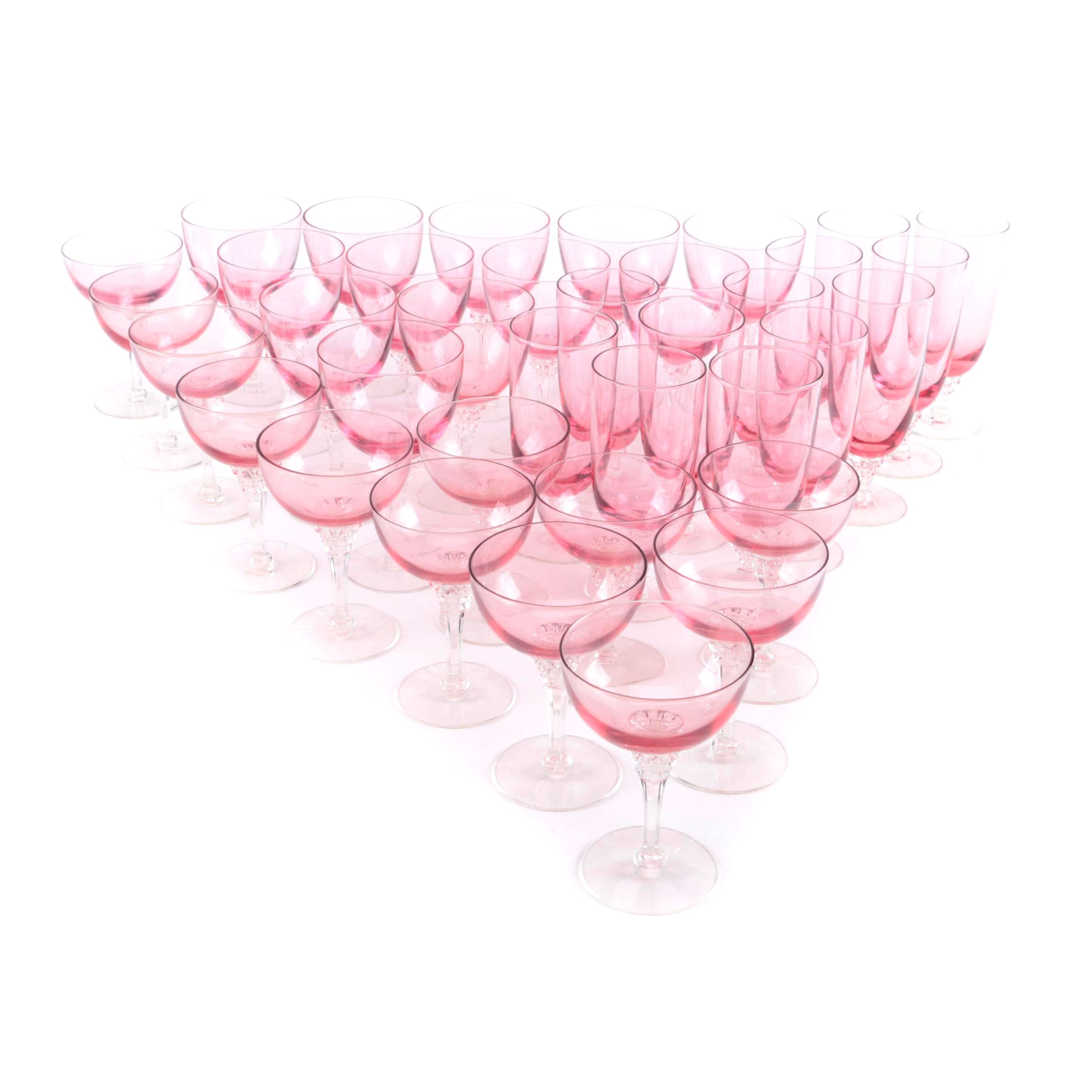 Pink Crystal Stemware Collection