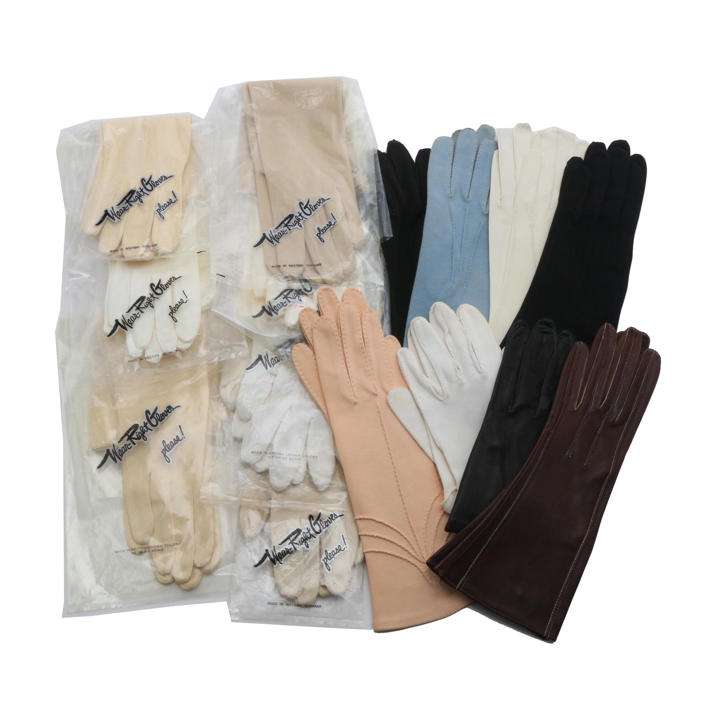 Fourteen Pair of Vintage Gloves in Variety of Styles