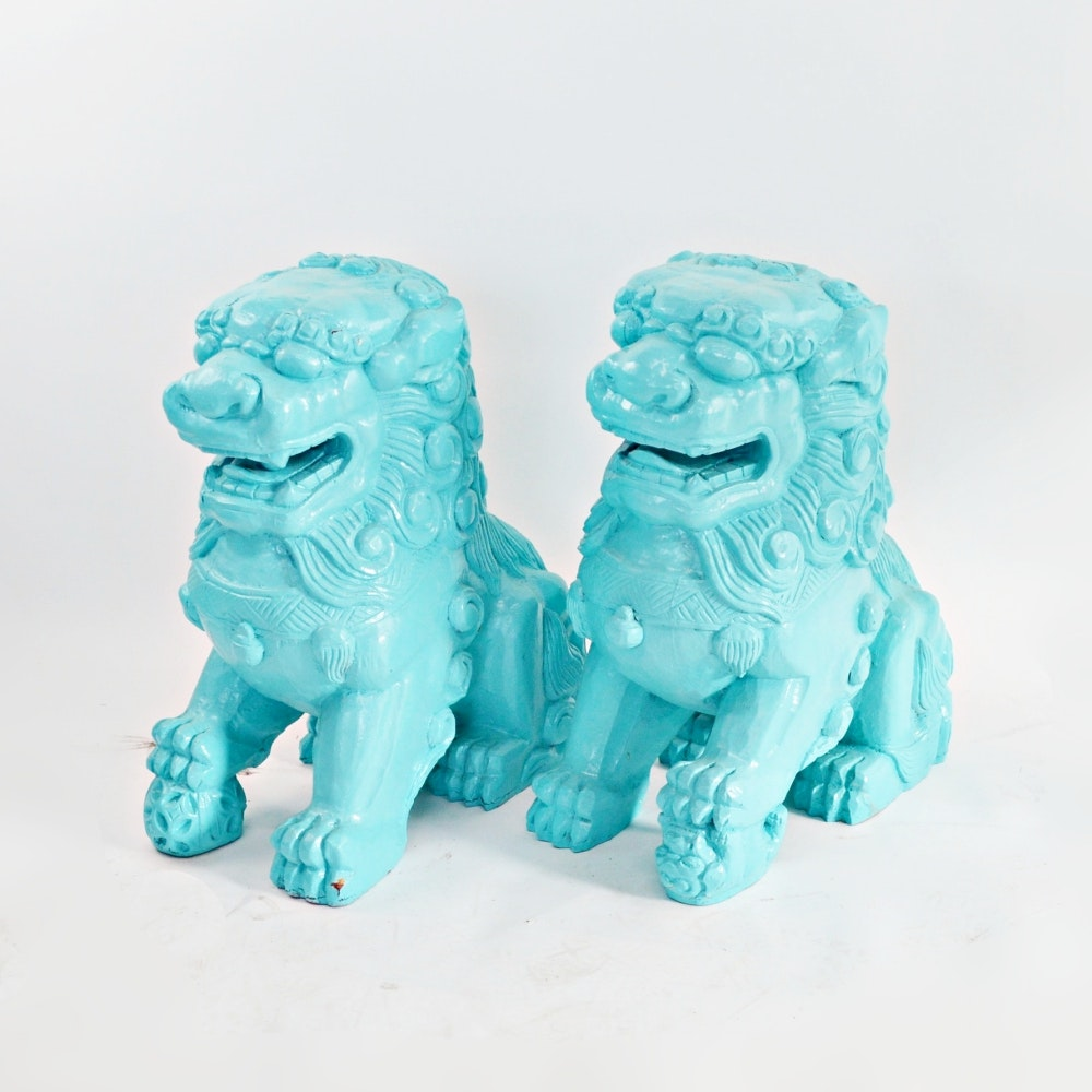 Chinese Style Guardian Lion Statues