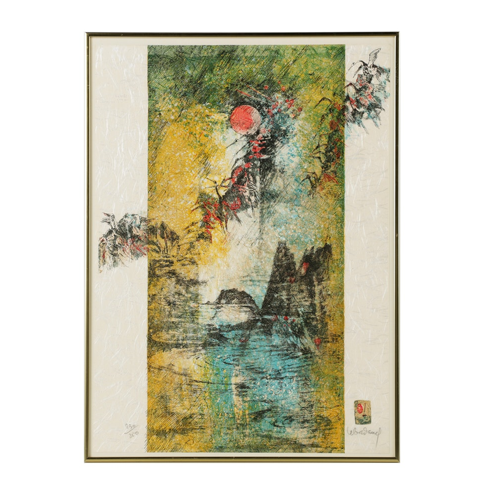 Lebadang Hoi Signed Limited Edition Lithograph on Wove Paper