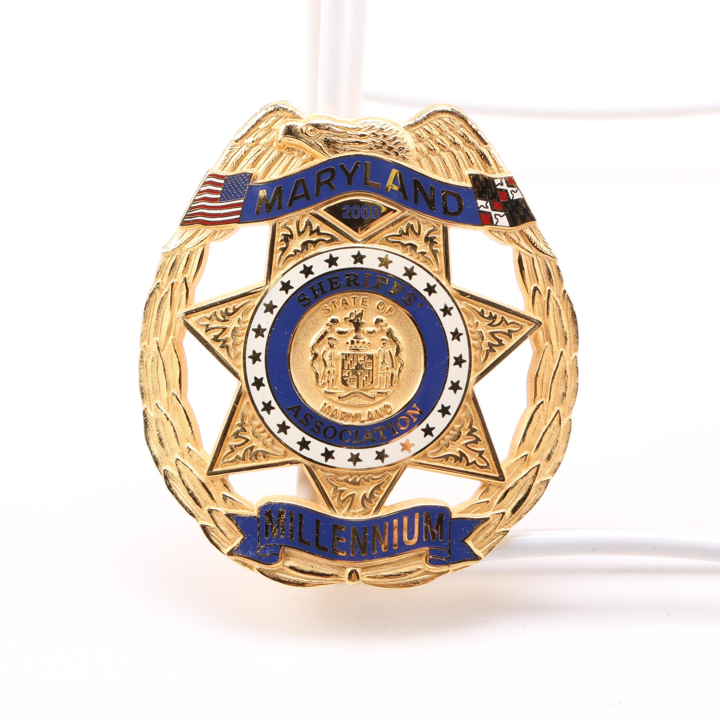 Maryland Sheriff's Association Millennium Badge