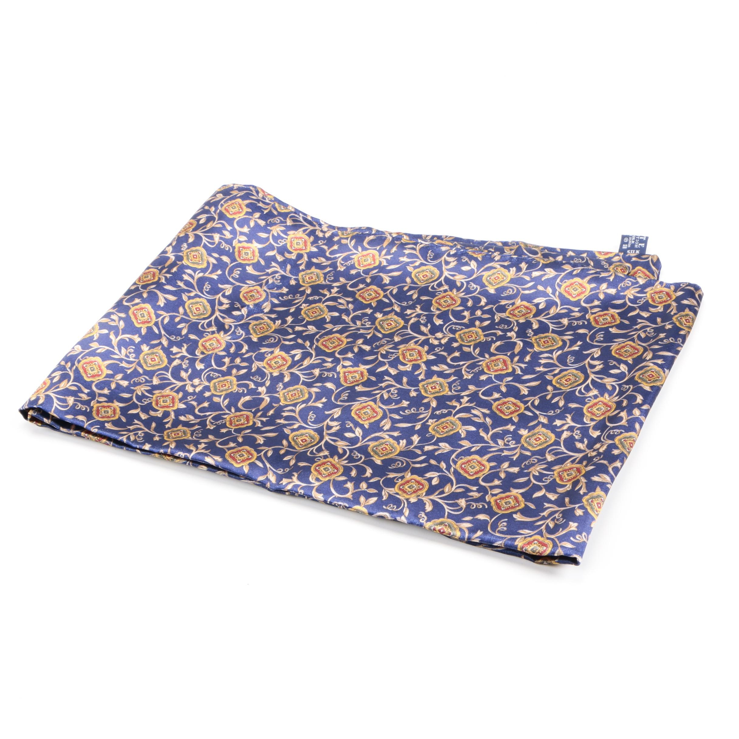Kete Collection Blue Silk Scarf