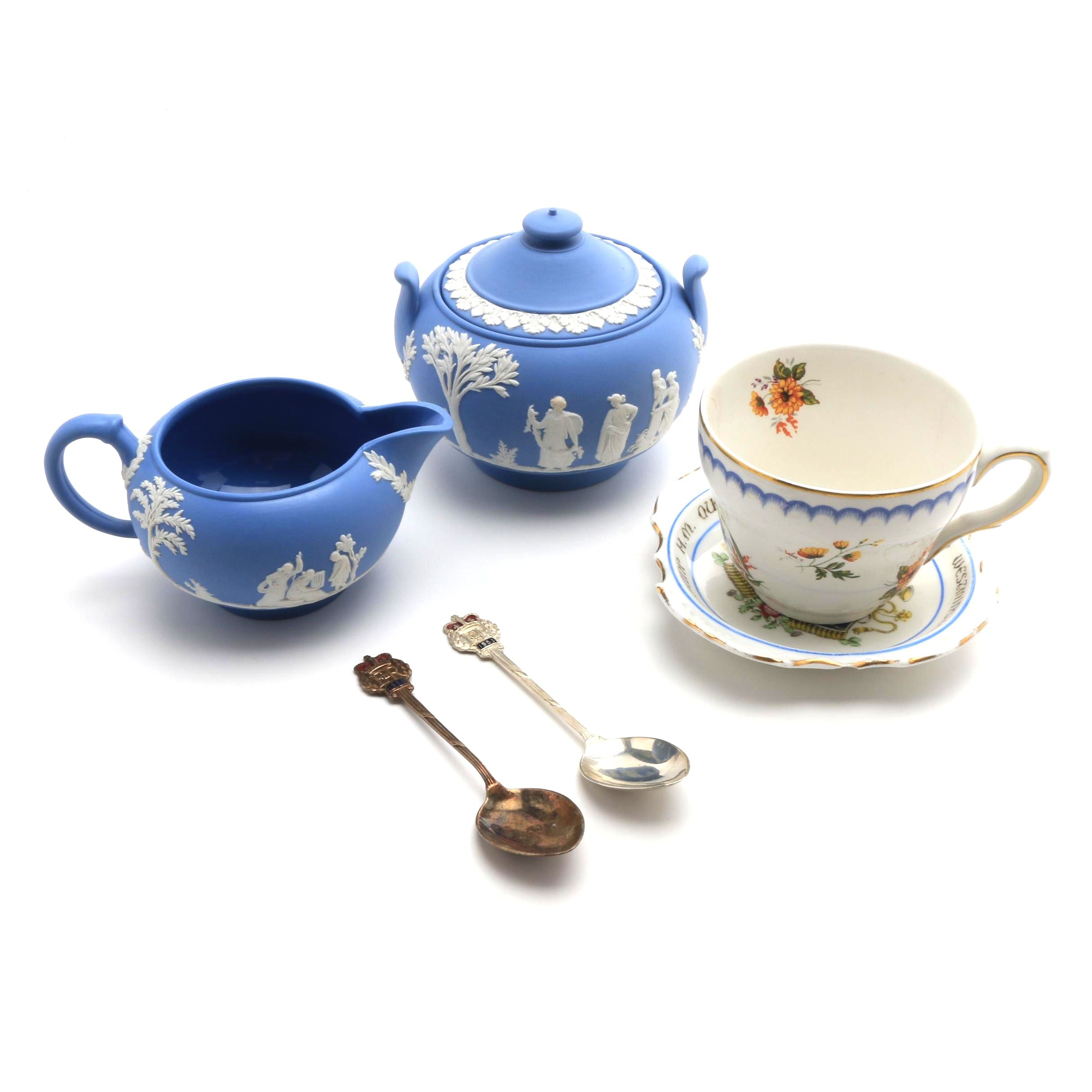 1953 Commemorative Queen Elizabeth II Coronation Dish, Spoons and More