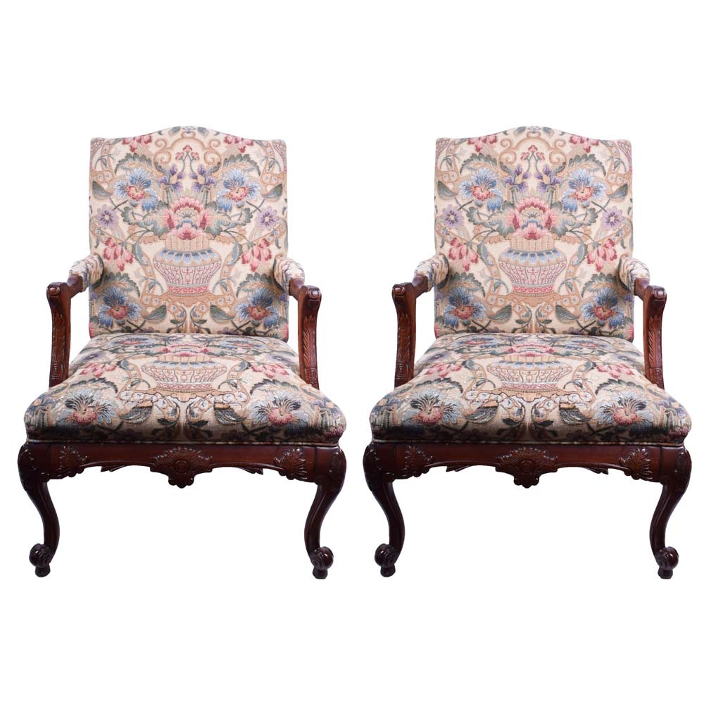 Pair of Upholstered Arm Chairs by Statesville Chair