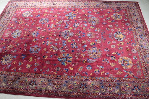 Large Semi-Antique Hand-Knotted Turkish Area Rug