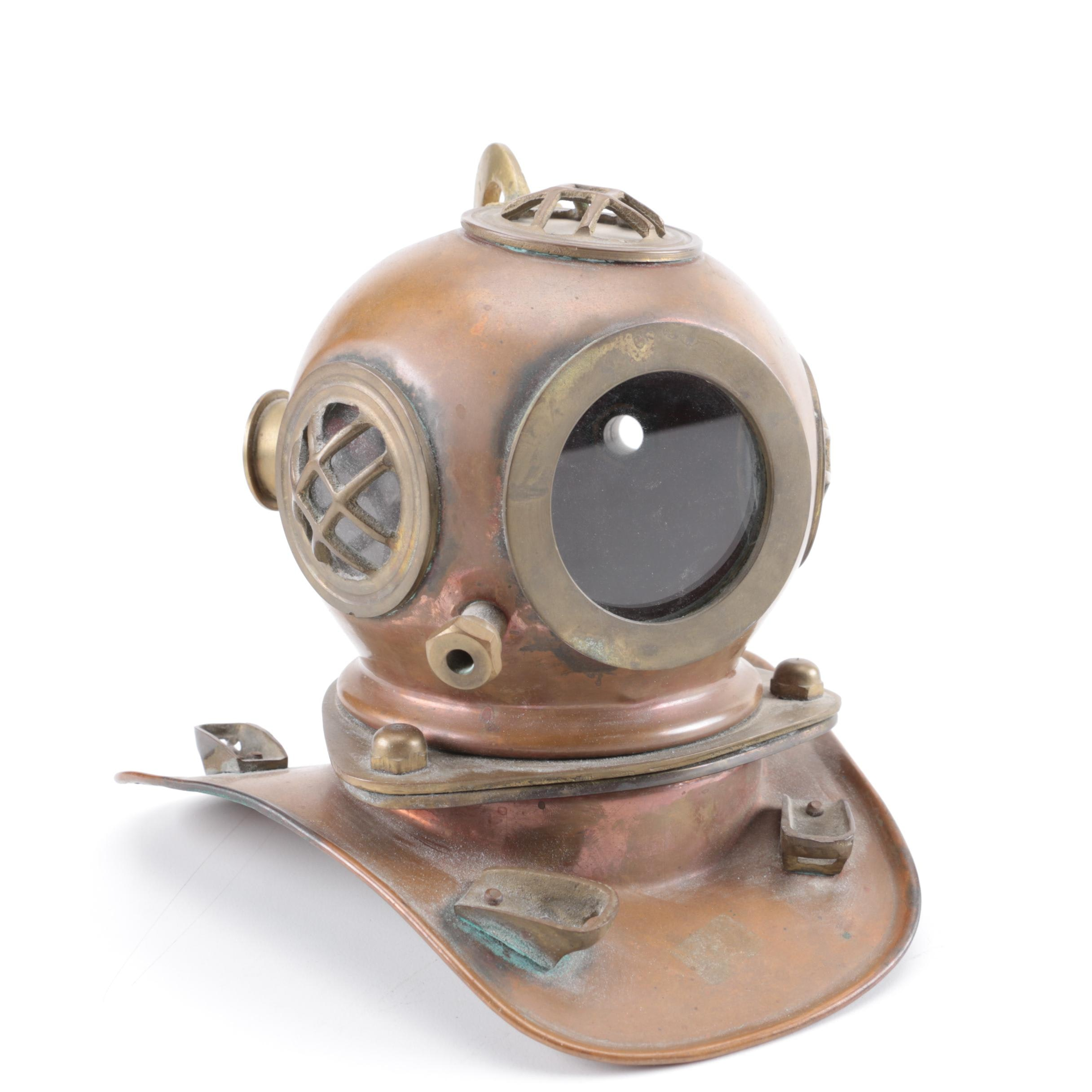 Vintage Miniature Brass Diver's Helmet