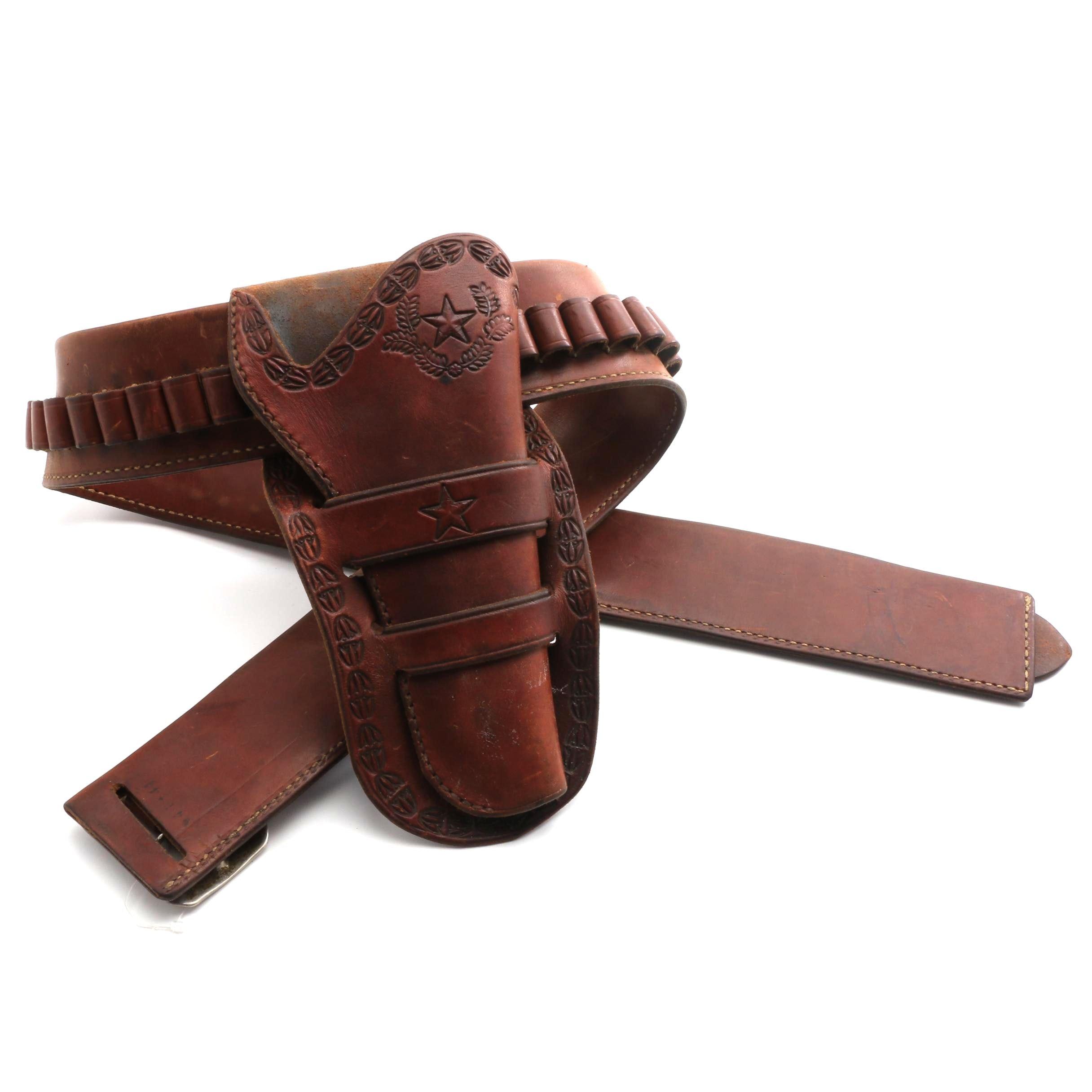 El Paso Saddlery Leather Gun Holster Belt