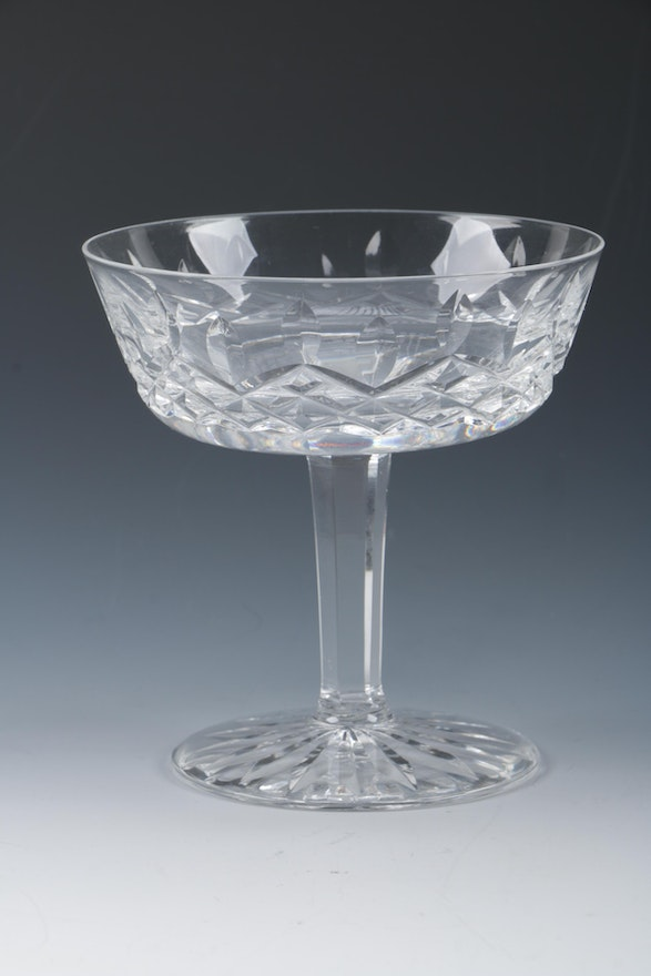 Waterford crystal 39 lismore 39 champagne coupes ebth - Waterford champagne coupe ...
