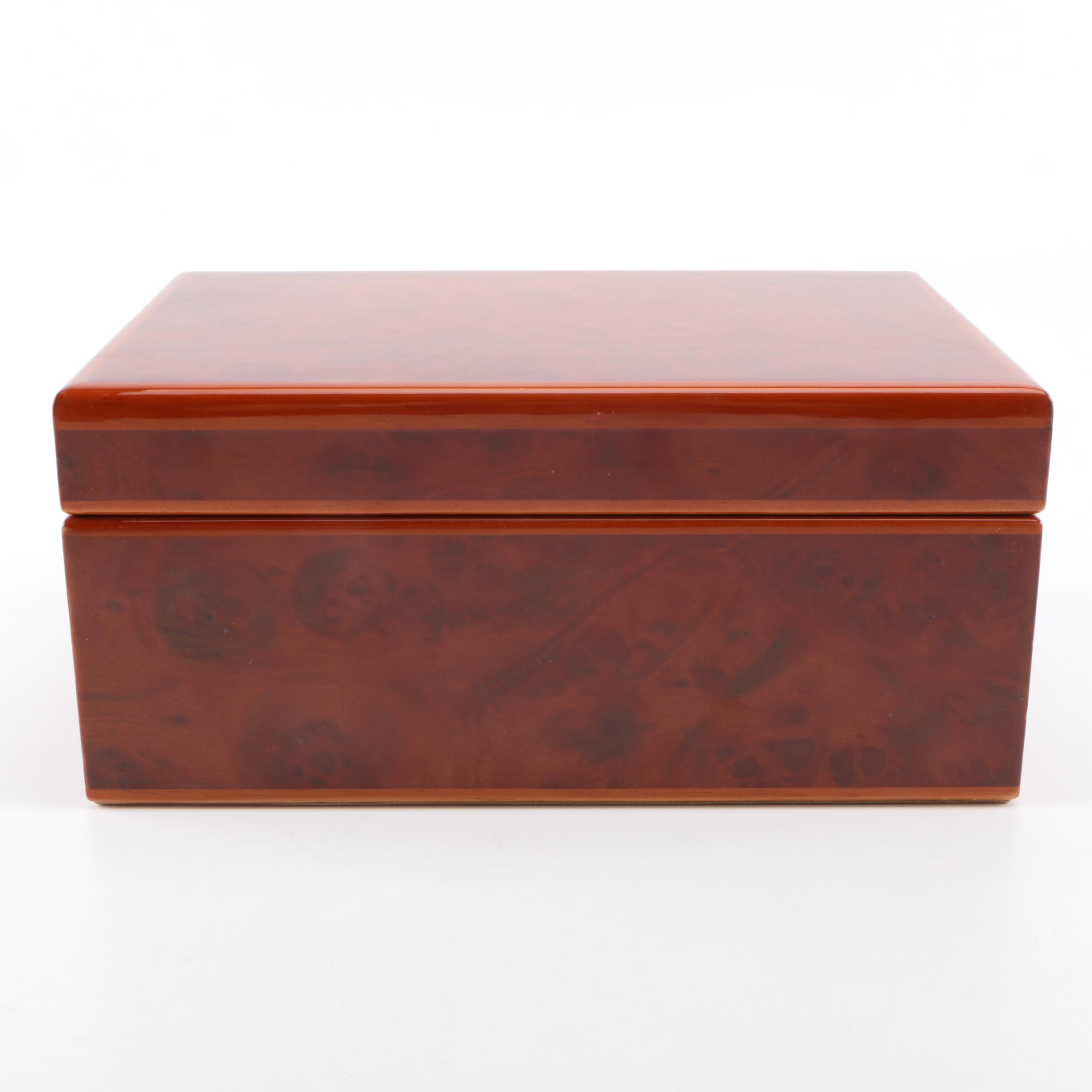 Lacquered Wood Jewelry Box
