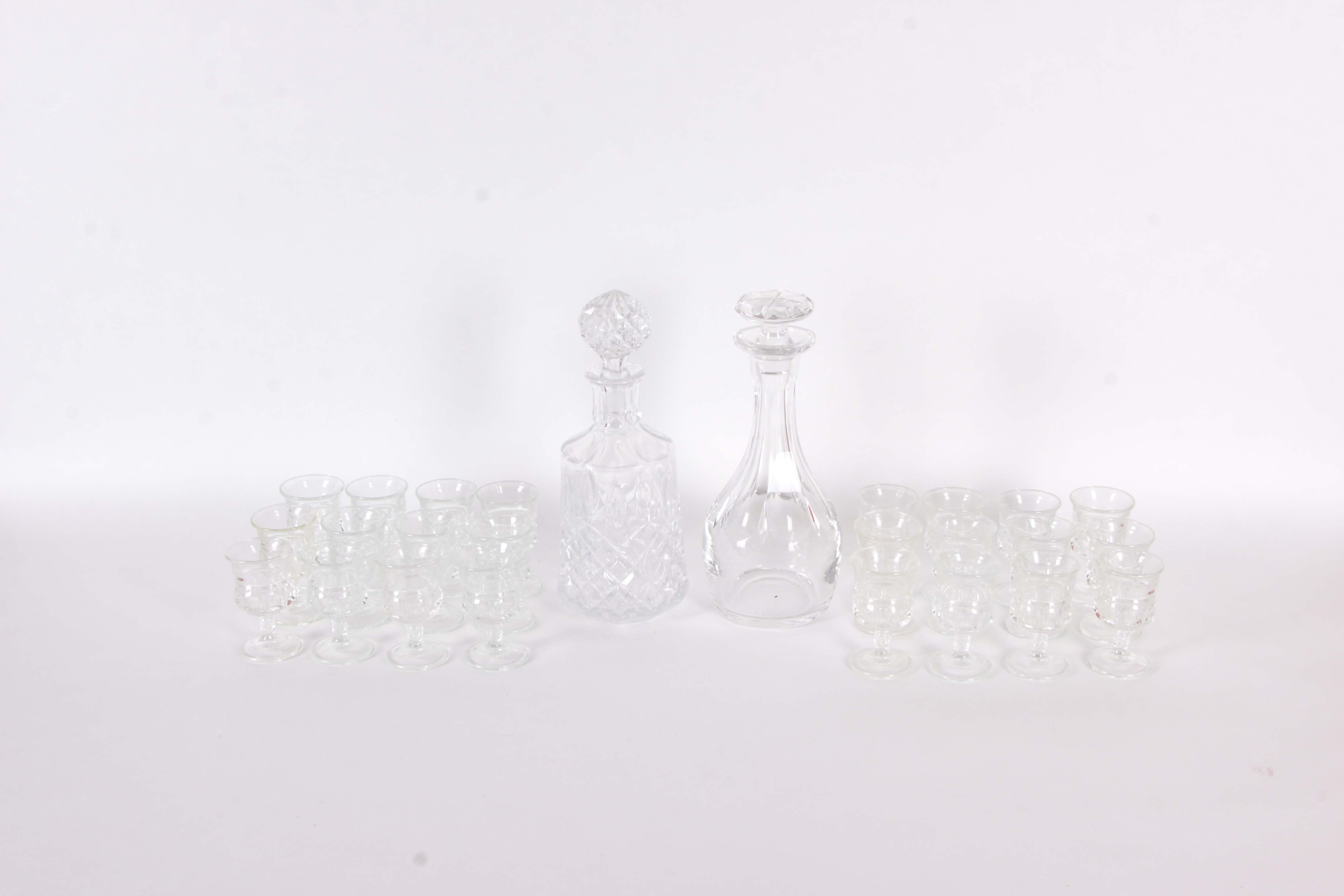 Vintage Cordial Glasses and Decanters