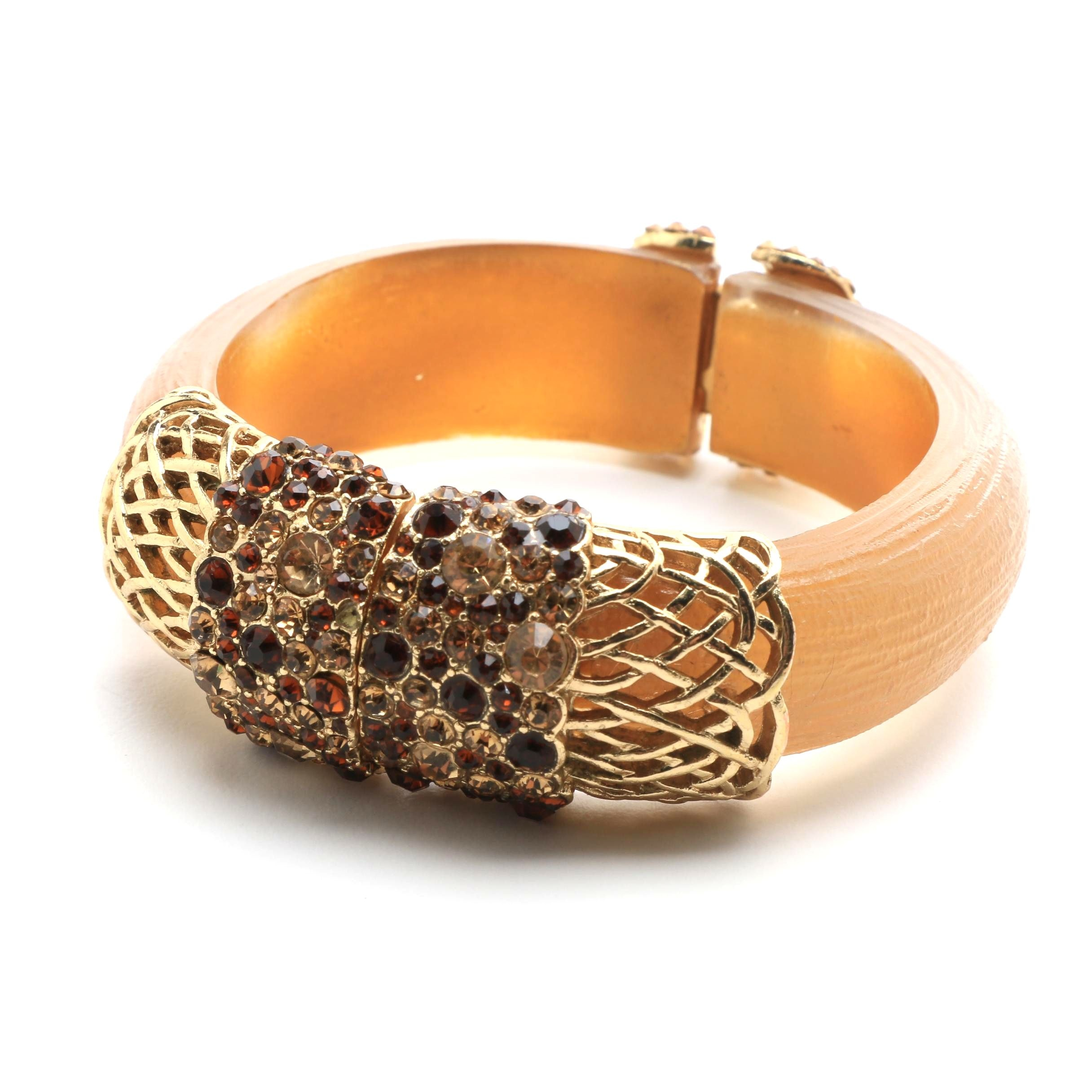Jimmy Crystal Boutique Swarovski Acrylic Hinged Bracelet