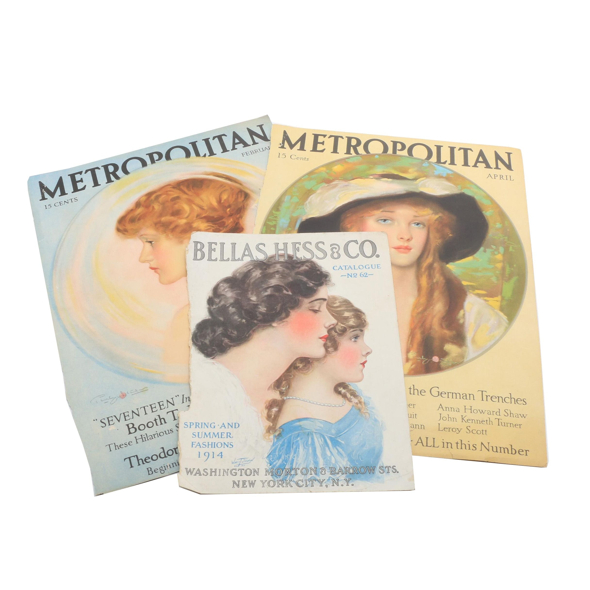 Antique Metropolitan Magazine Covers and Bellas Hess & Co. Cover