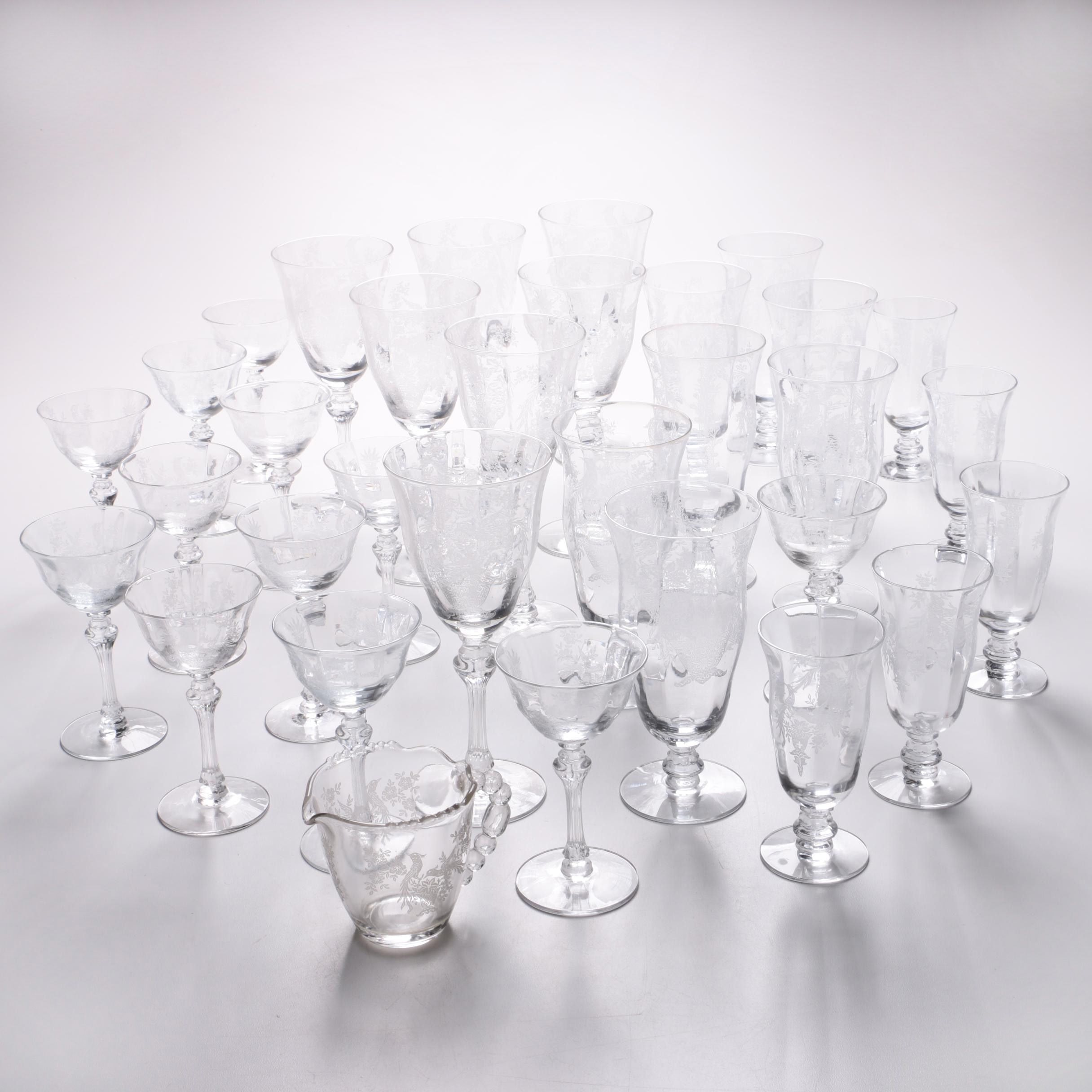 Etched Crystal Stemware Collection
