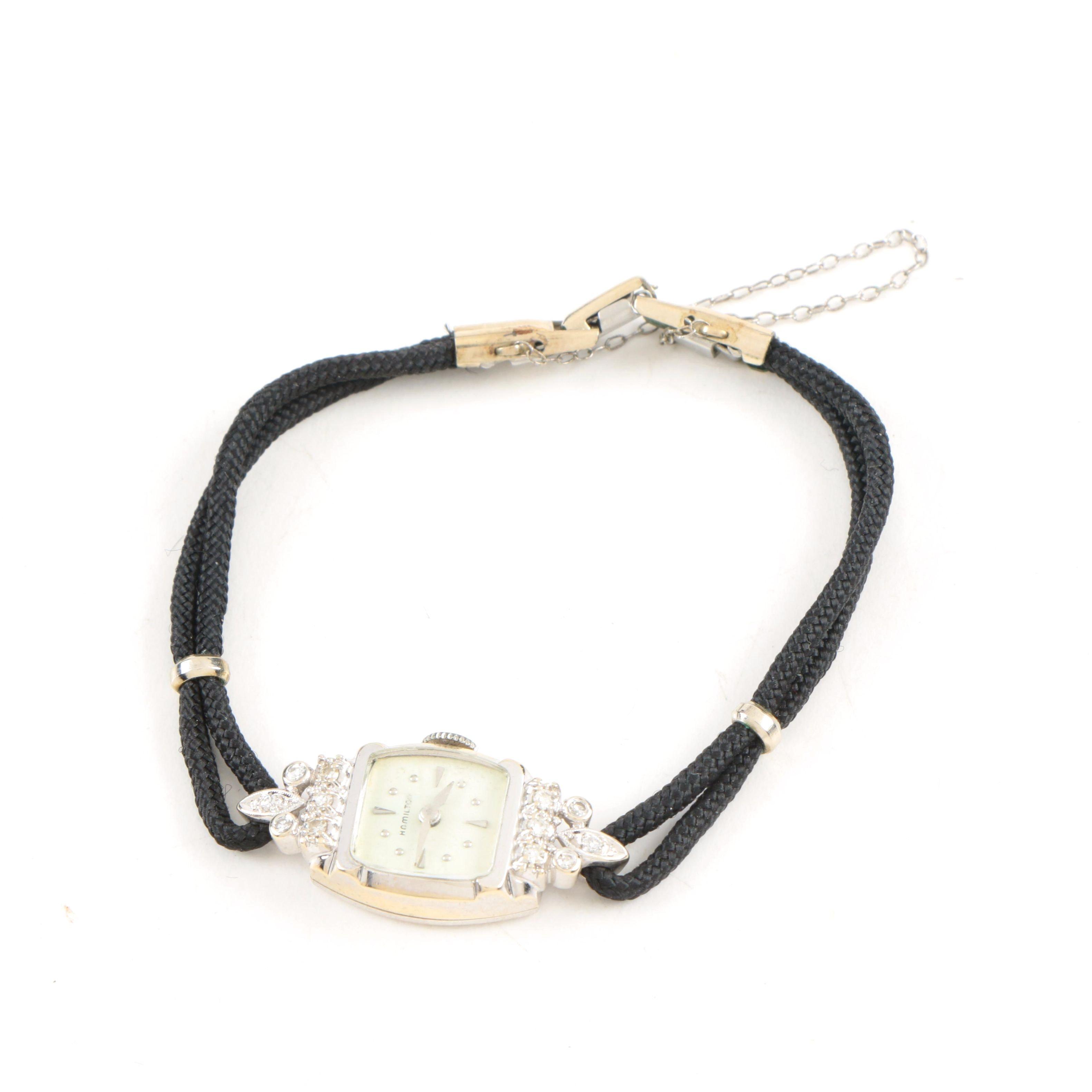 14K Diamond Hamilton Dress Watch