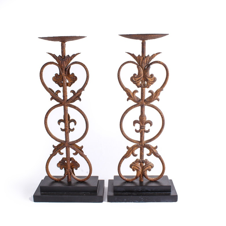 Rustic Metal Candle Holders