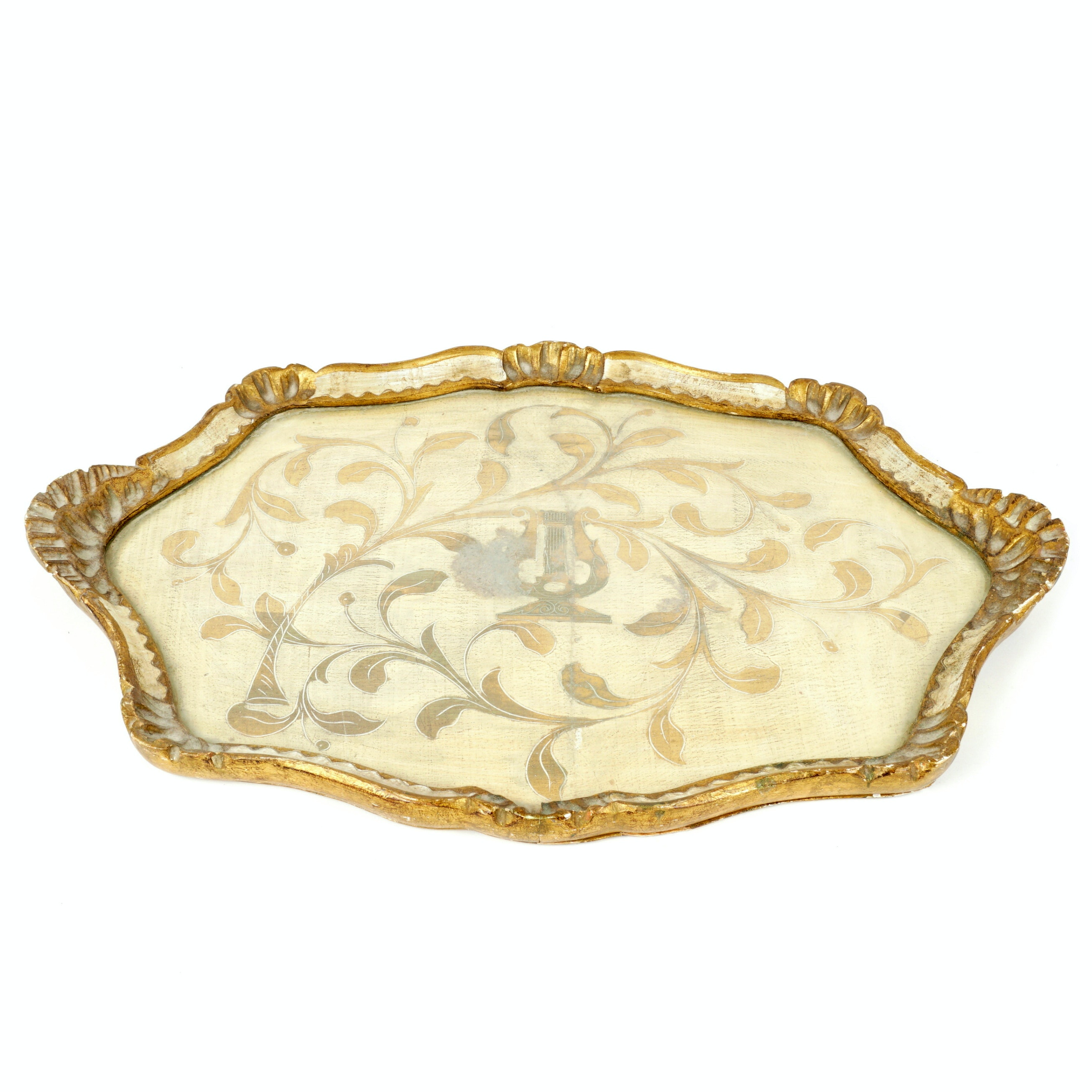 Florentine Gilded and Painted Wood Tray