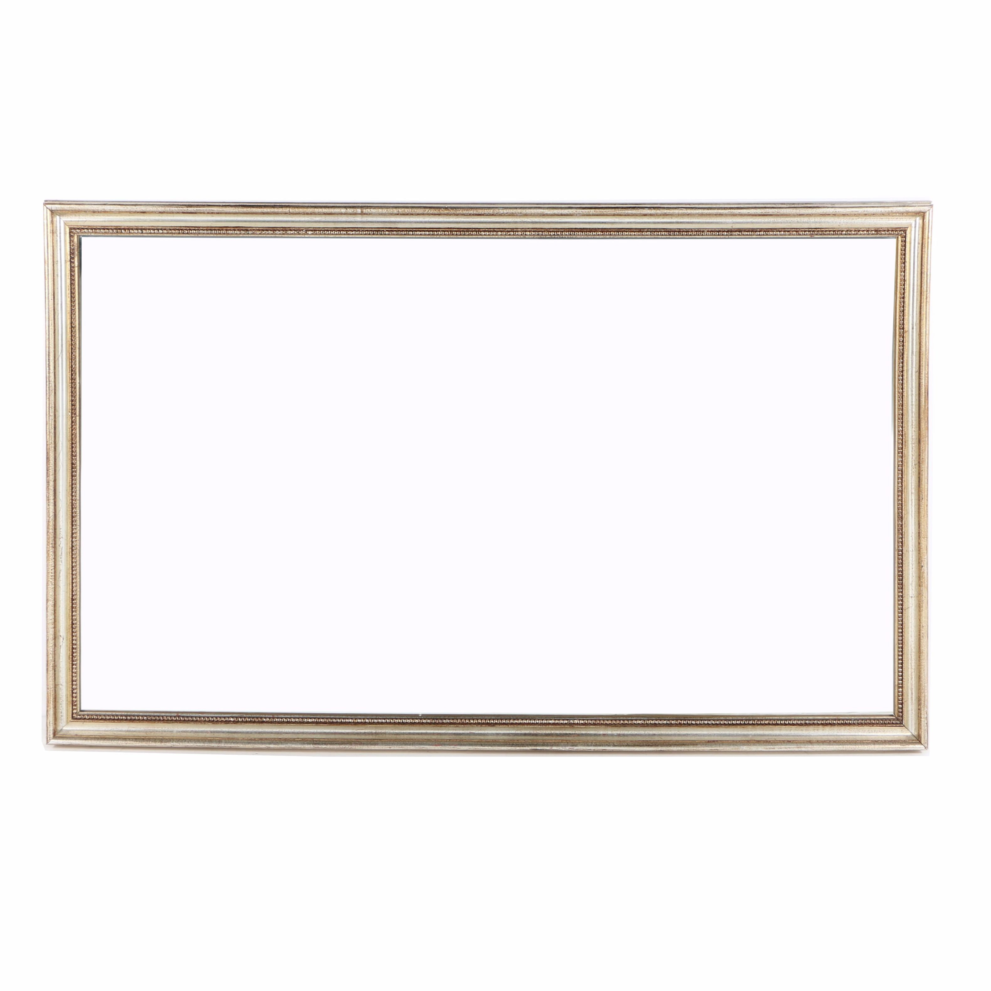 Wall Mirror with Antiqued Silver Finished Frame
