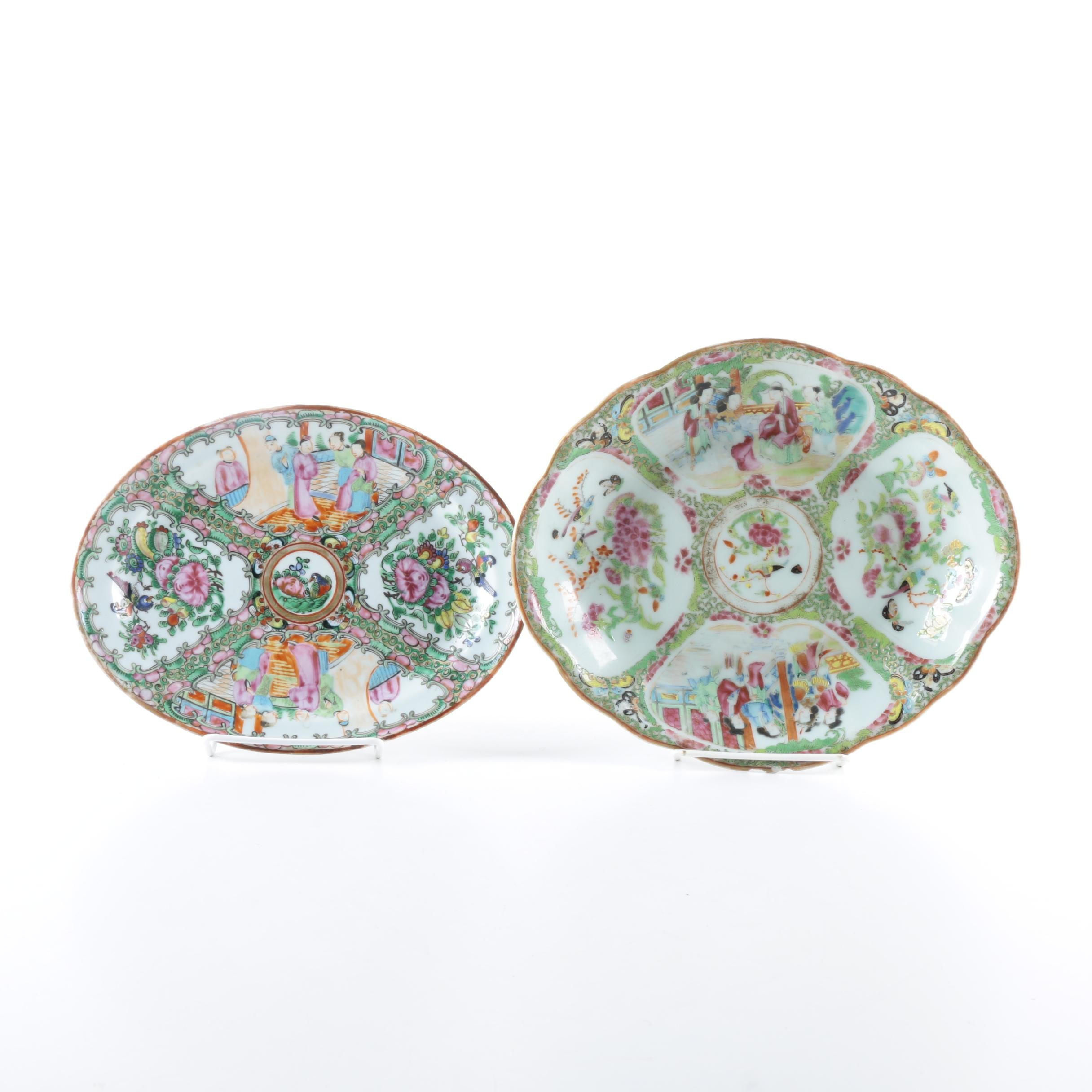 Pair of East Asian Themed Decorative Plates