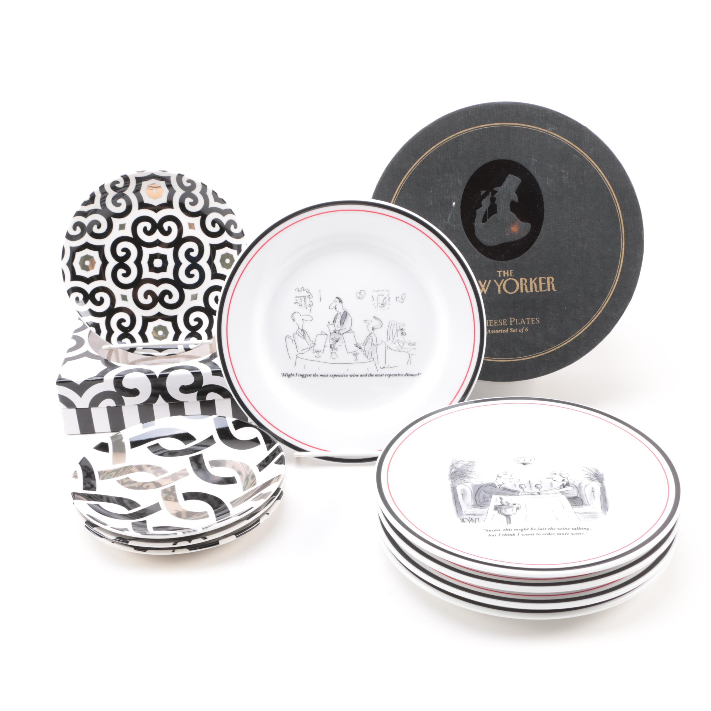 Plate Sets Including \ The New Yorker\  Cheese Plates ...  sc 1 st  EBTH.com & Plate Sets Including \