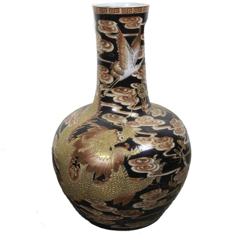 Large East Asian Ceramic Vase