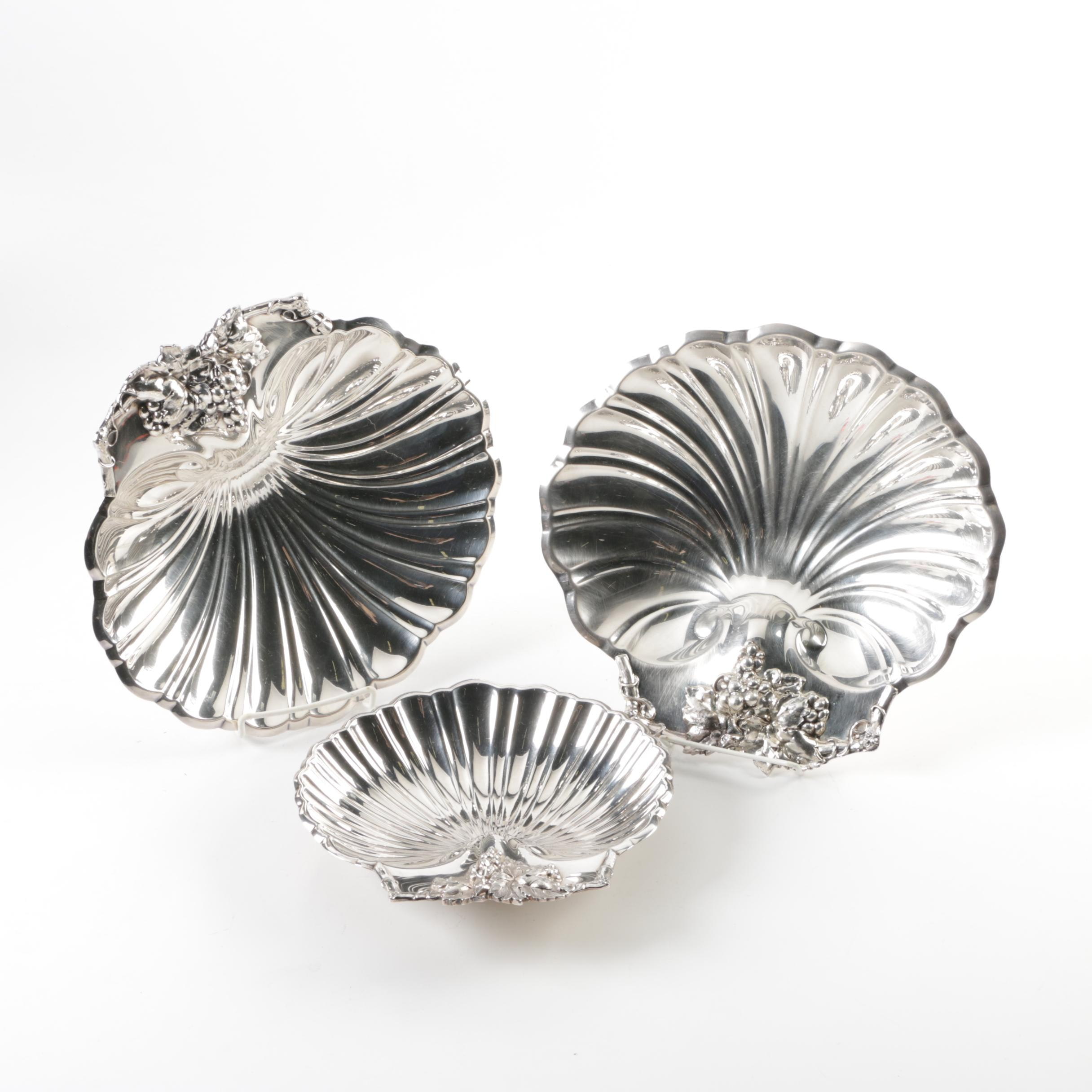 Reed & Barton Silver Plated Shell Dishes