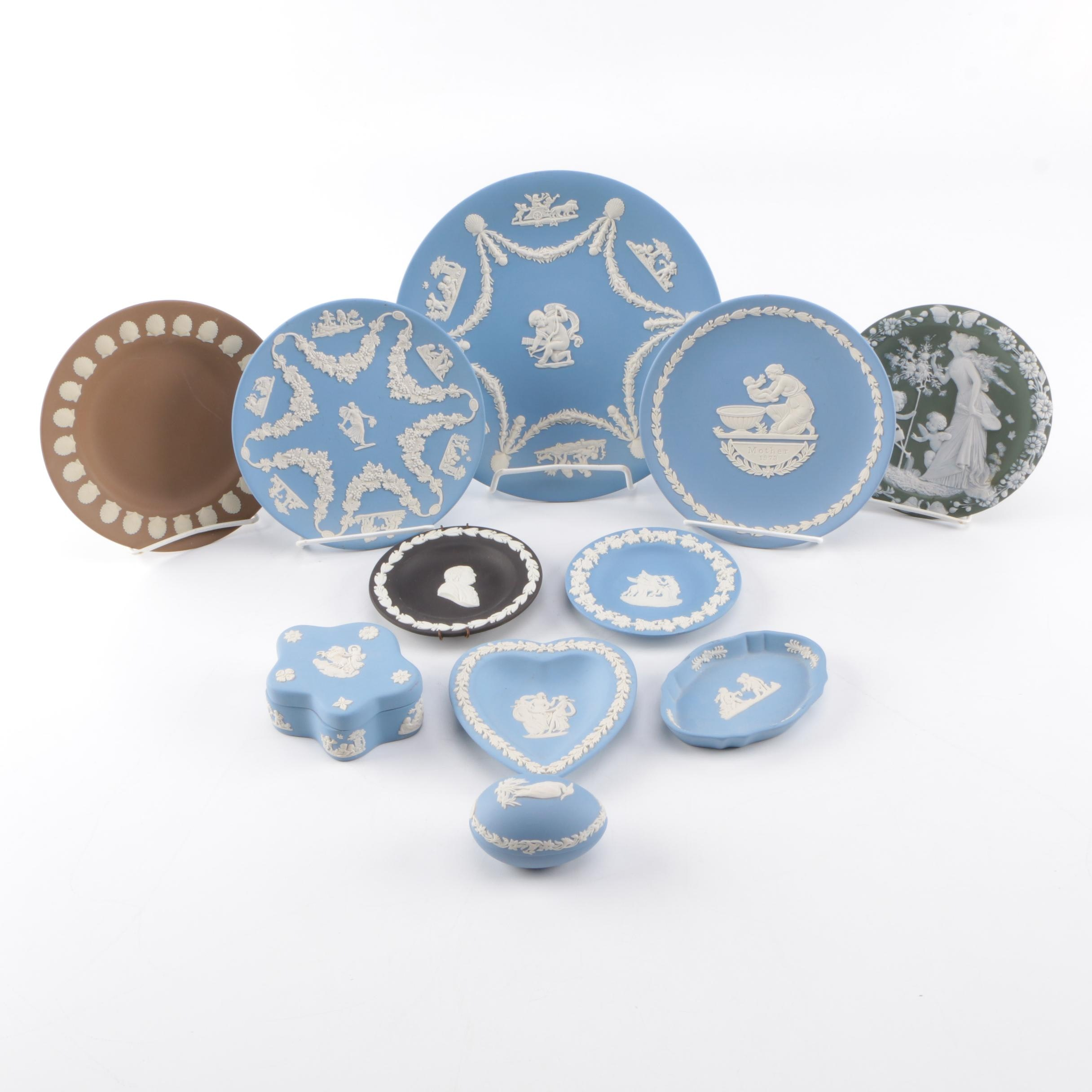 Wedgwood Jasperware Plates and Other Decor