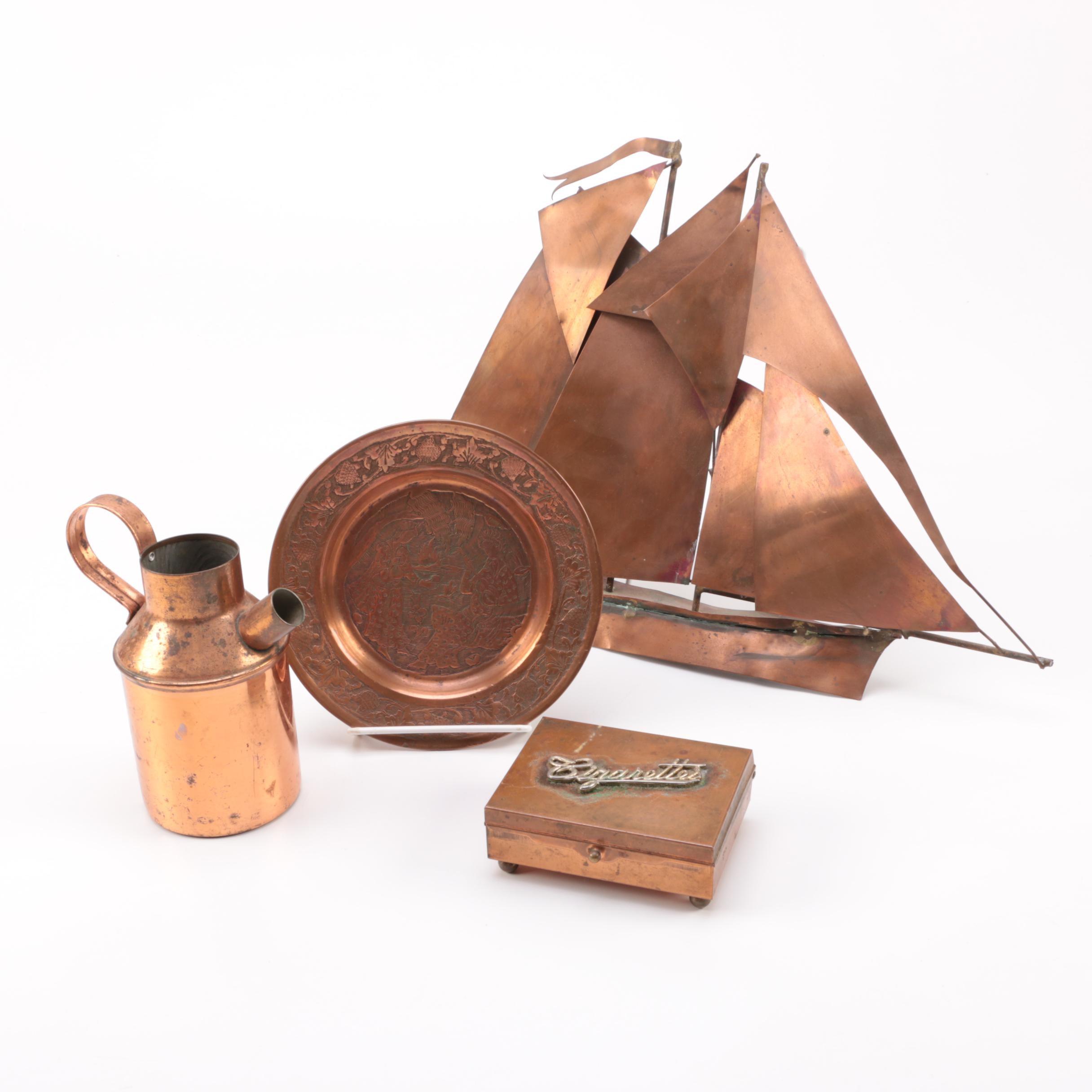 Assortment of Copper Home Decor
