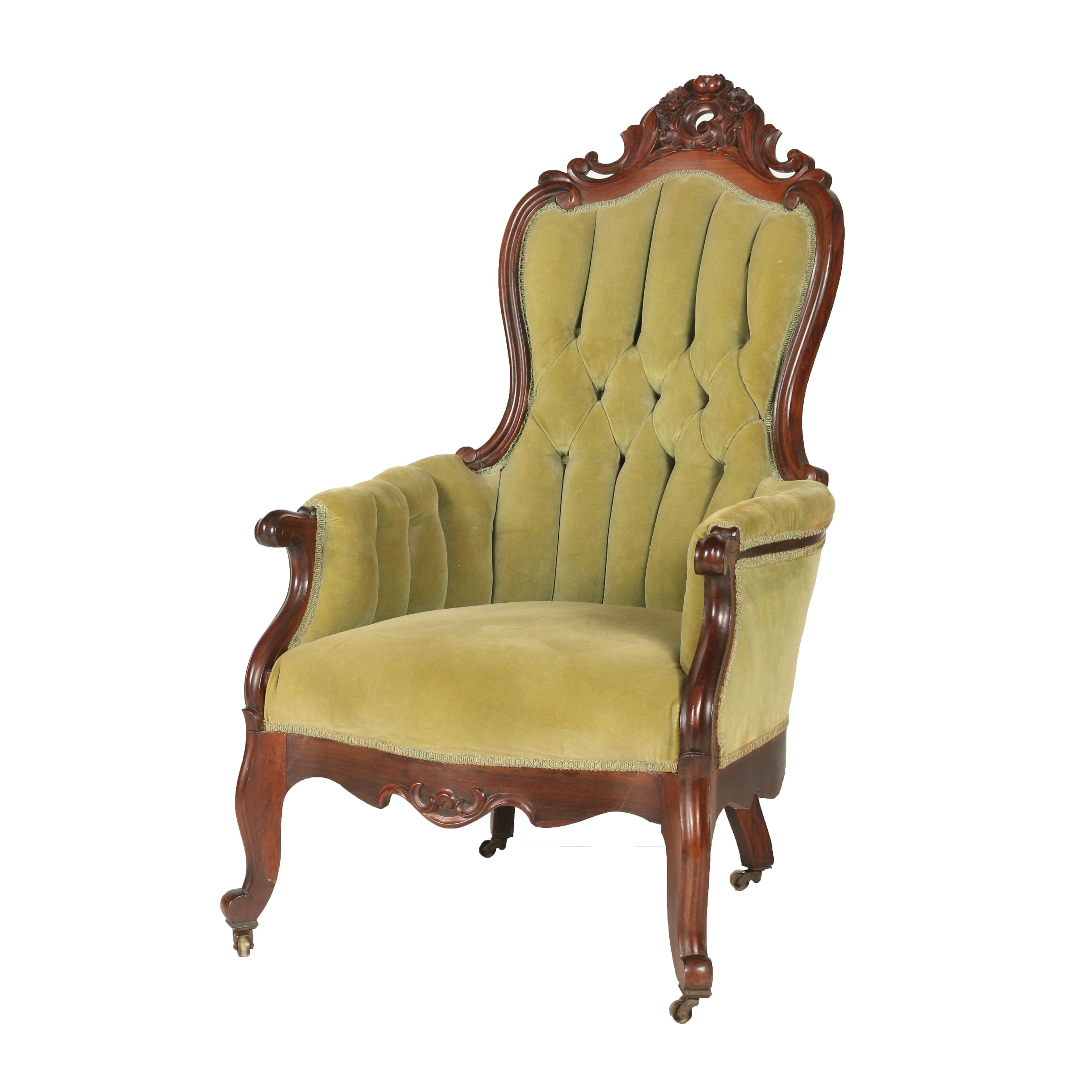 Walnut Victorian Arm Chair