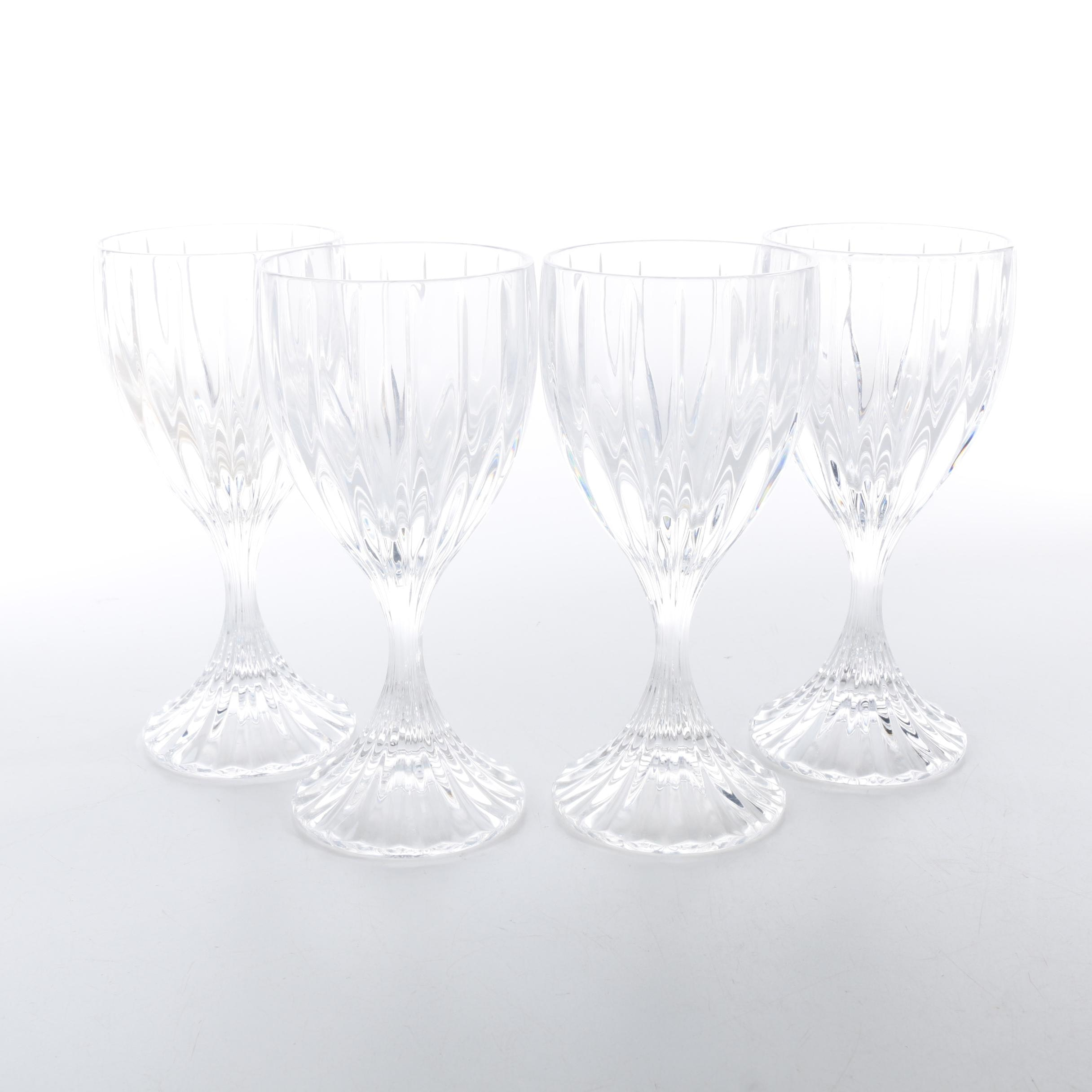 Ribbed Crystal Wine Glasses