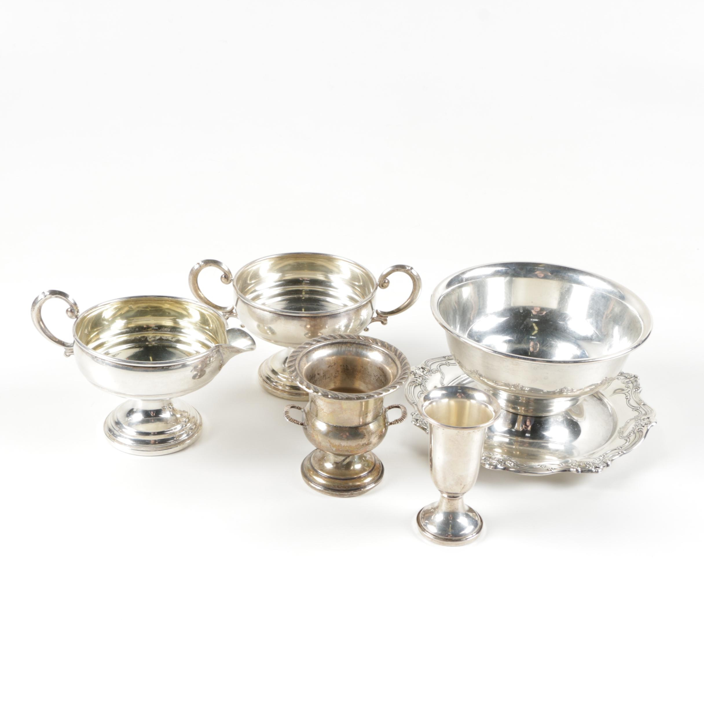 Assorted Sterling and Weighted Sterling Servingware Featuring Gorham