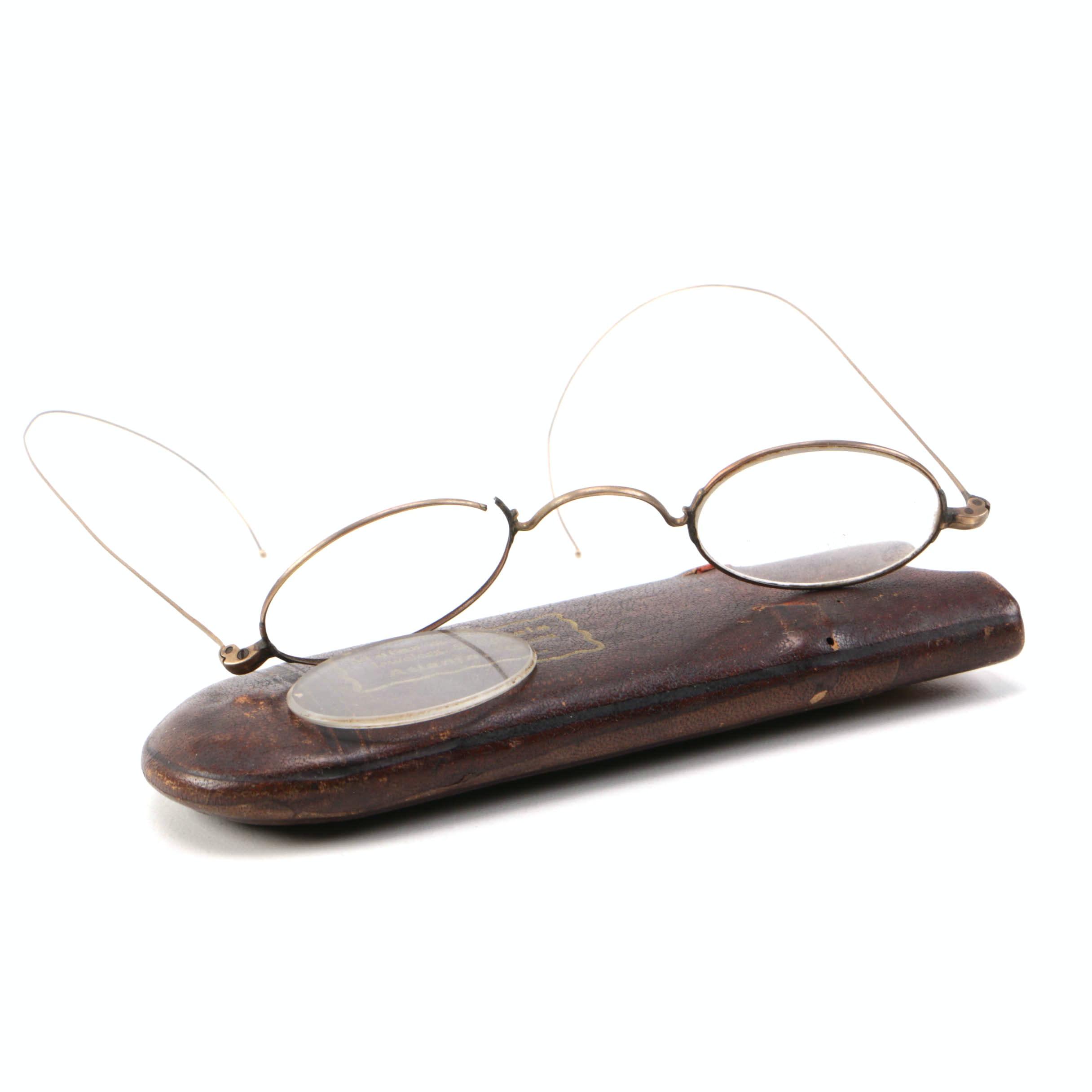Maler & Berkele Jewelers & Opticians Glasses and Case