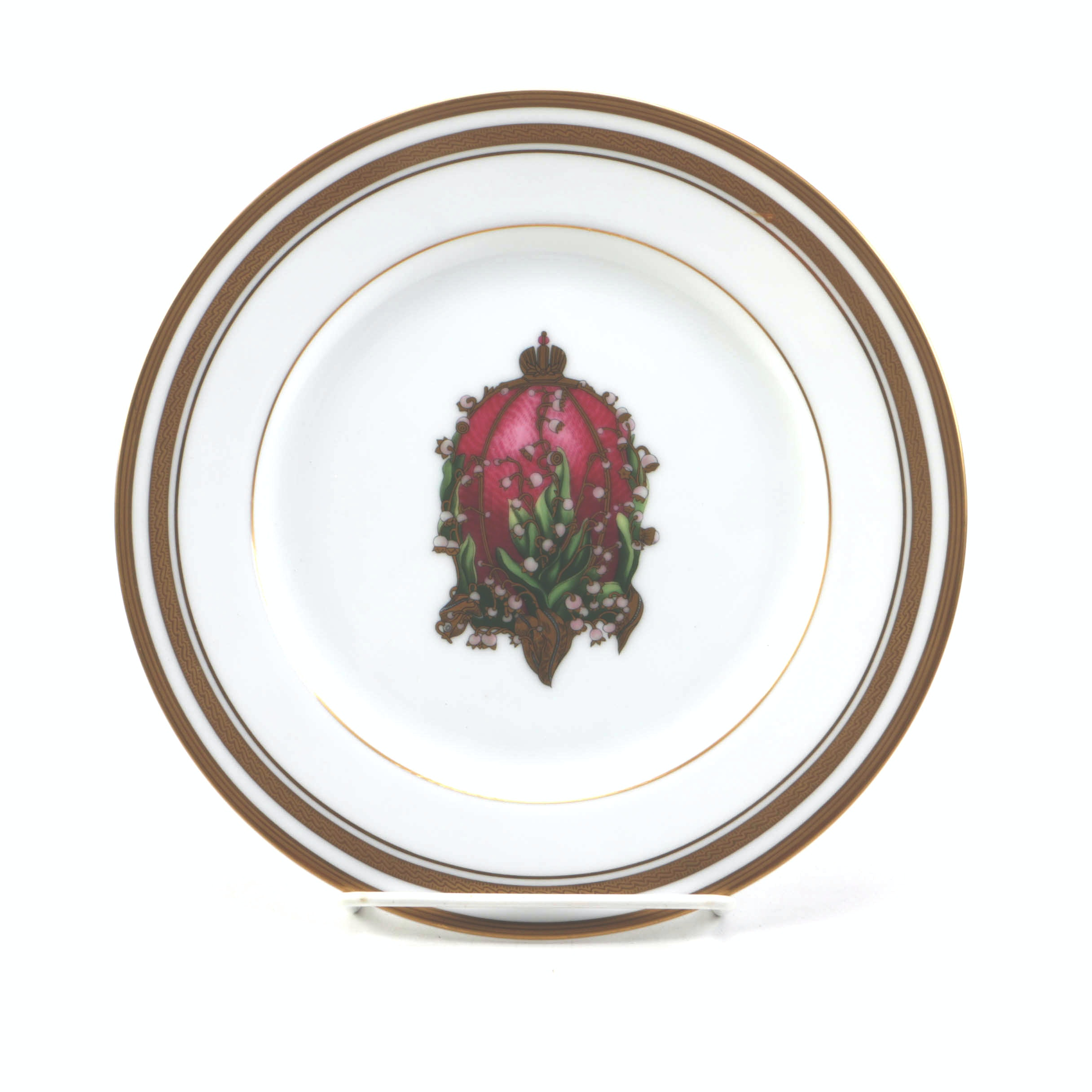 "Fabergé ""The Lilies of the Valley Egg"" Fine China Plate"