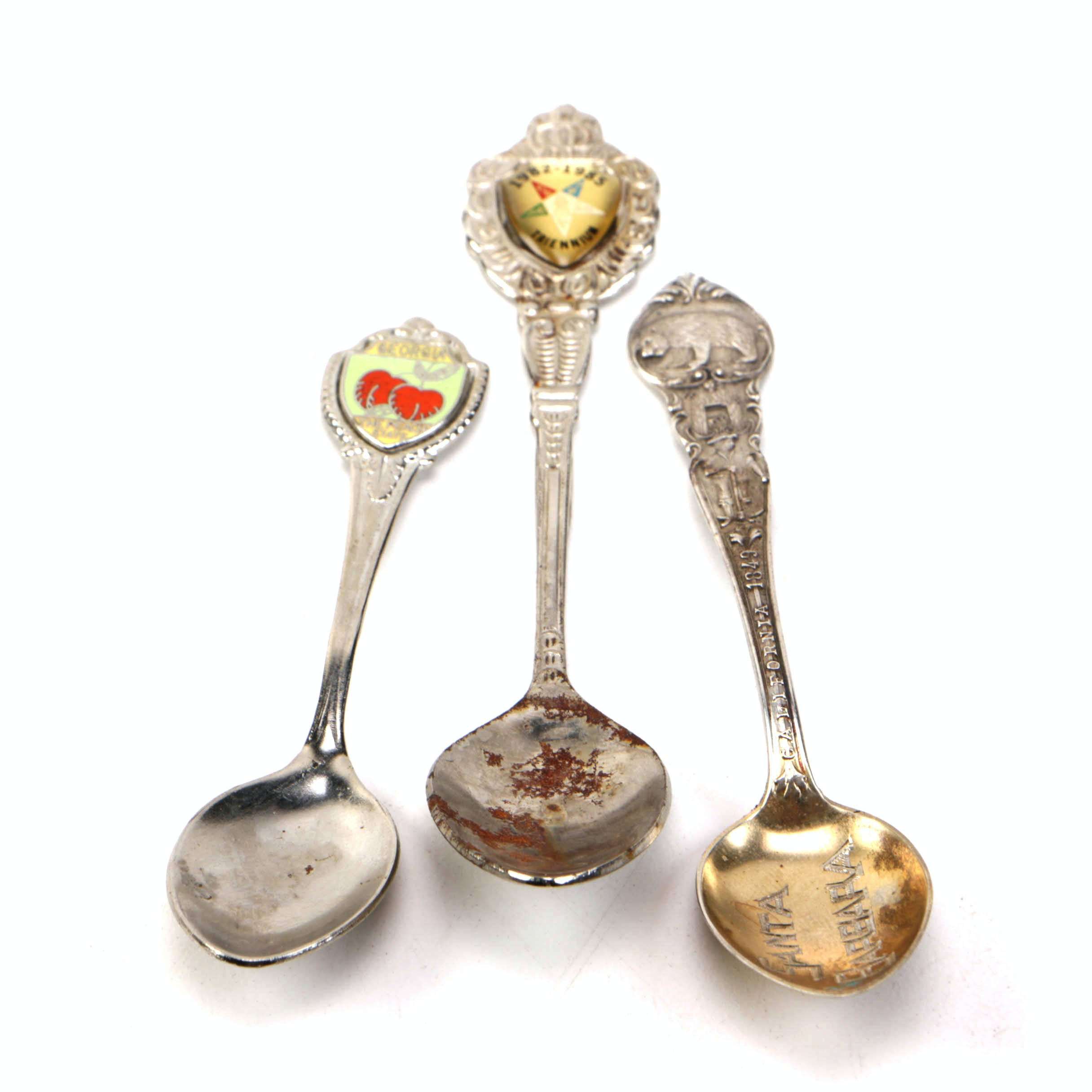 """Mechanics Sterling """"Santa Barbara"""" Souvenir Spoon and Other Collectible Spoons"""