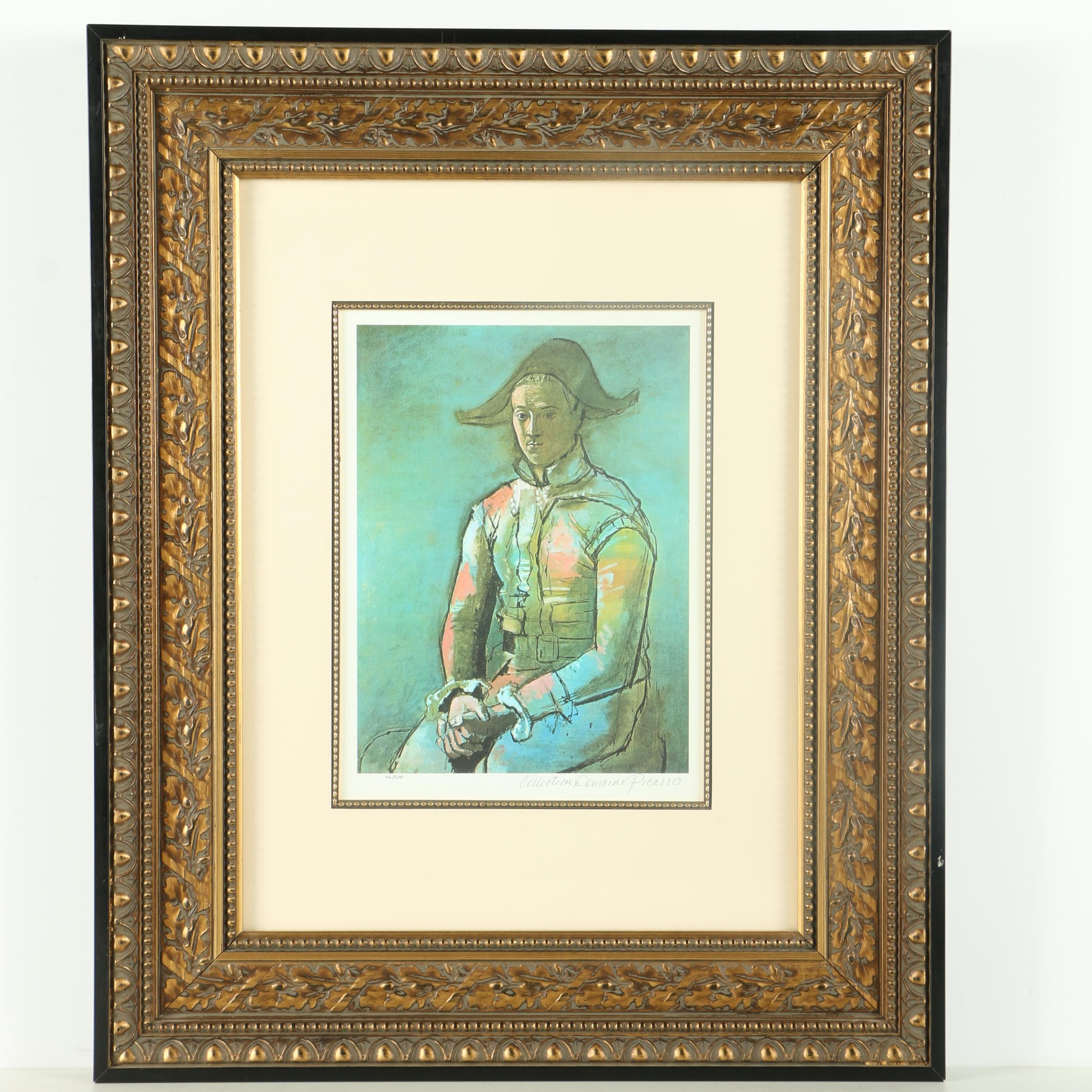 "Limited Edition Giclee After Pablo Picasso ""Seated Harlequin (Jacinto Salvado)"""