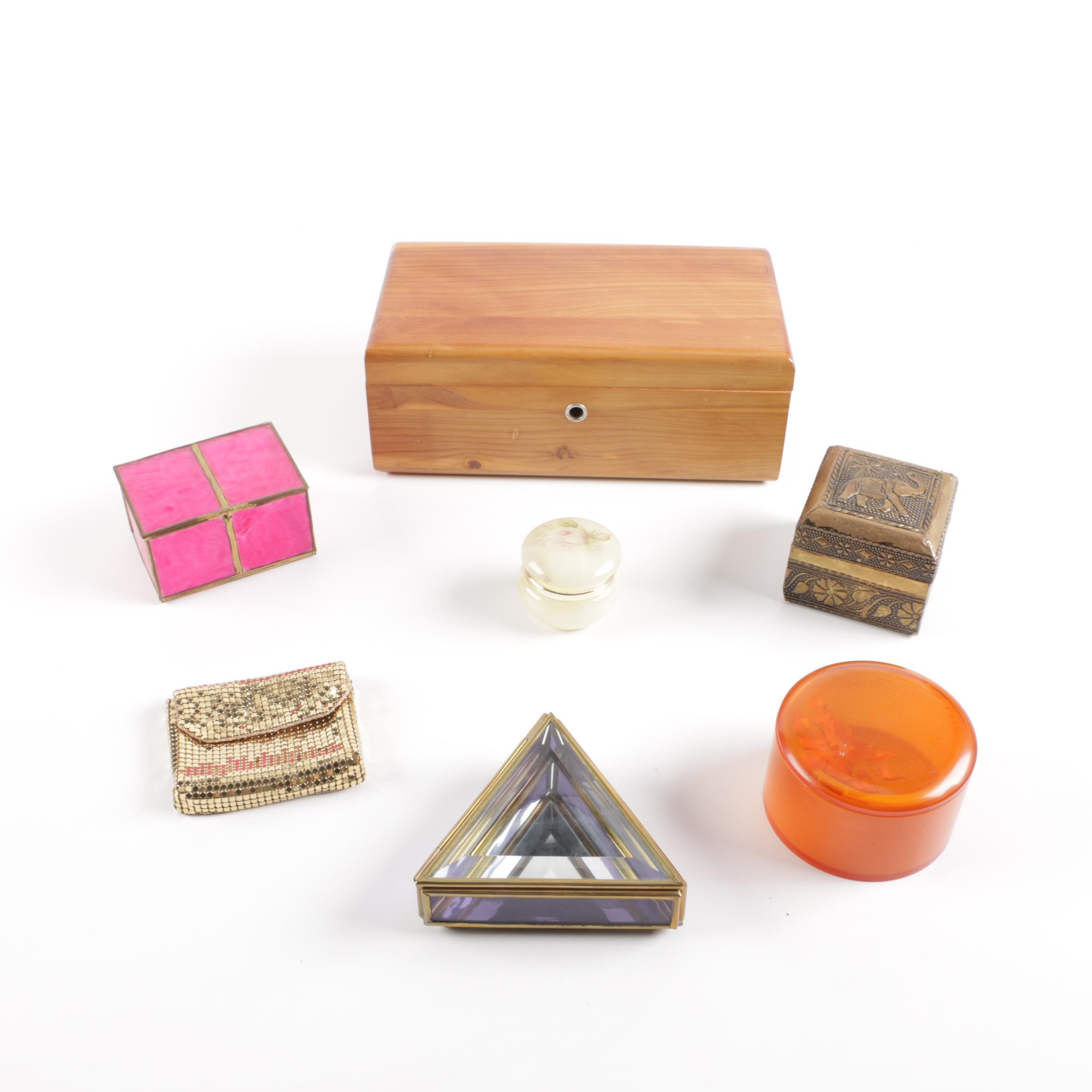Lane Cedar Box, Trinket Boxes and Coin Purse