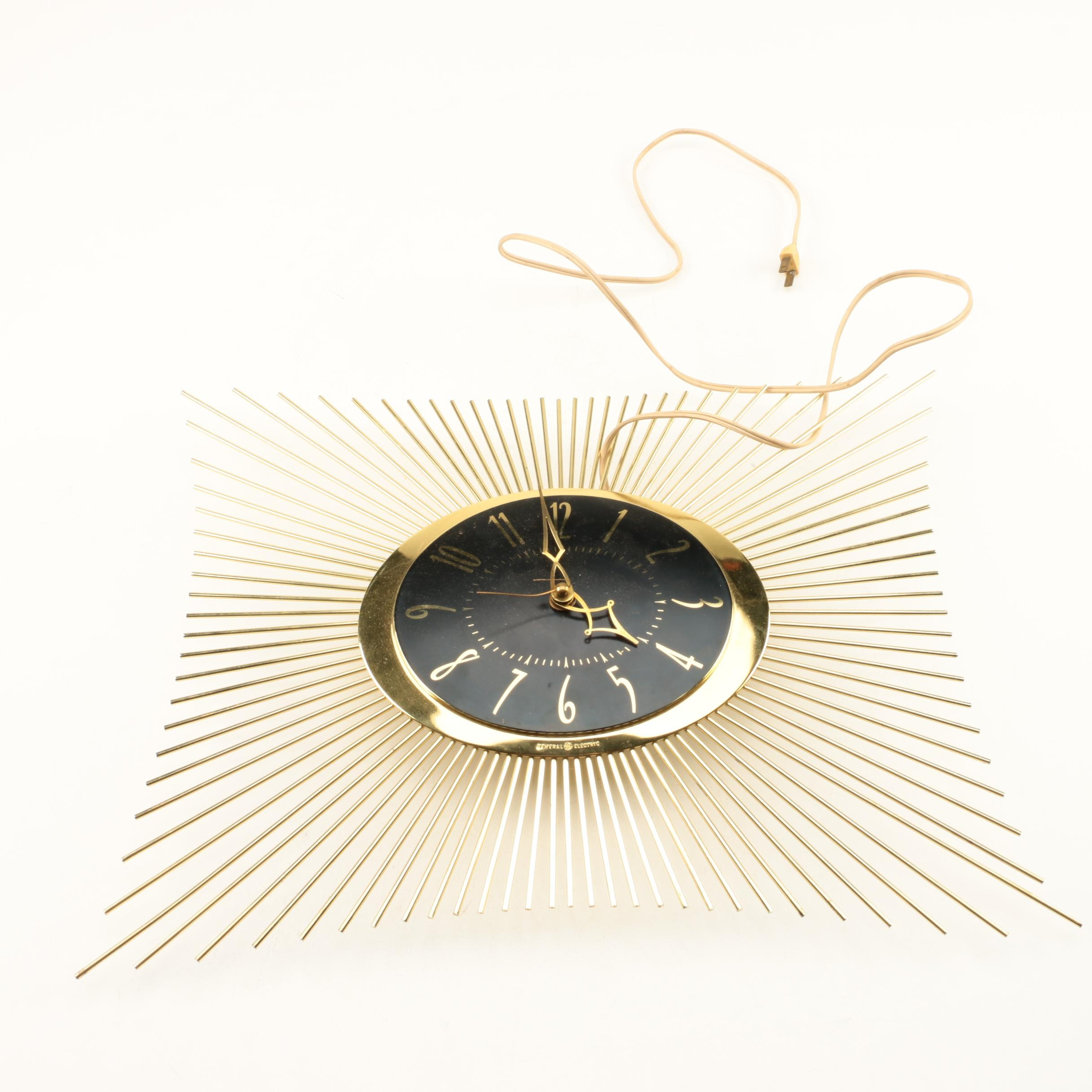 Mid Century Modern Electric GE Wall Clock