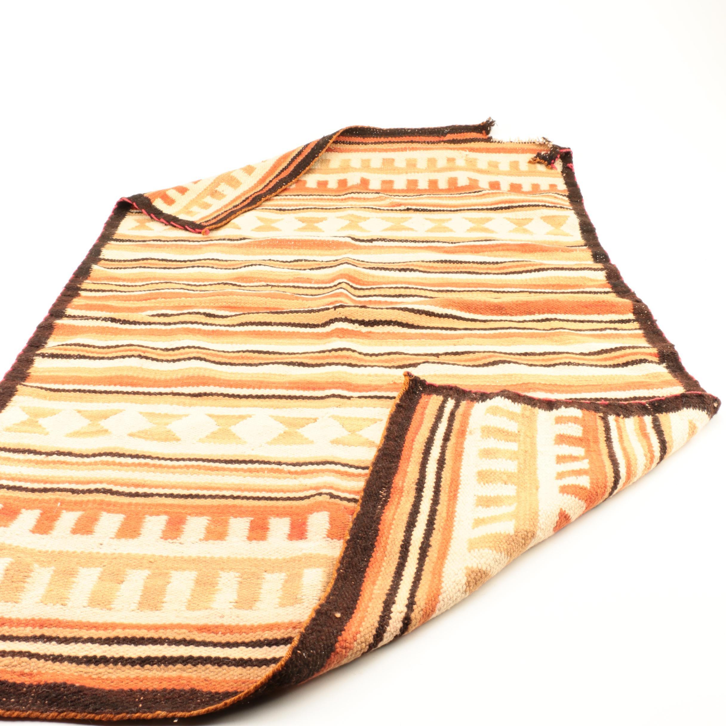 VIntage Handwoven Wool Area Rug