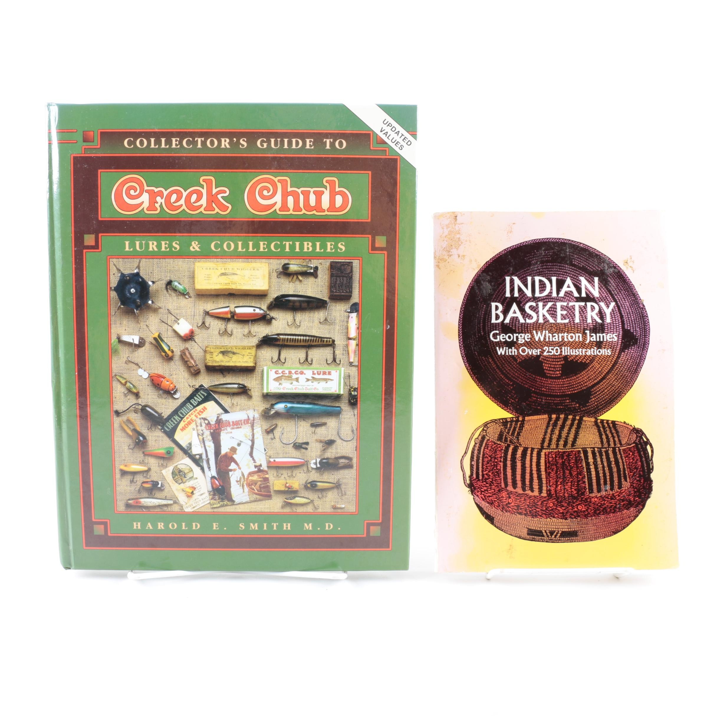 Pair of Books on Fishing and Basketry