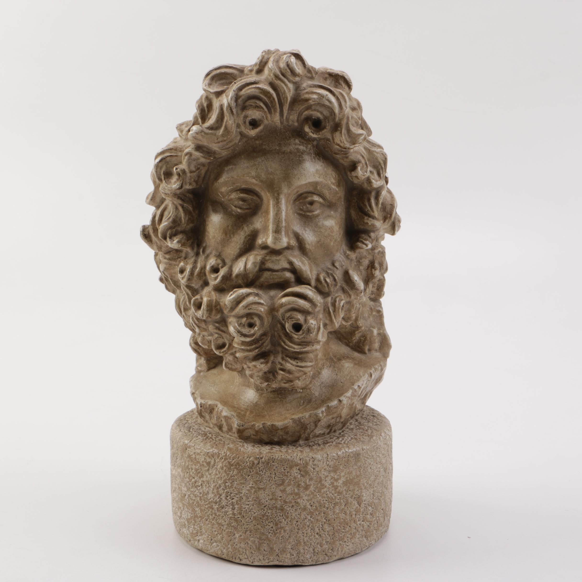 Caproni Reproduction Resin Bust of Zeus