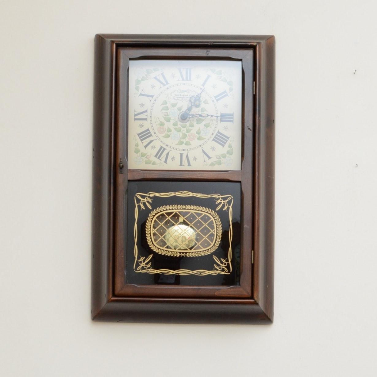 New England Clock Co. Pine Wall Clock