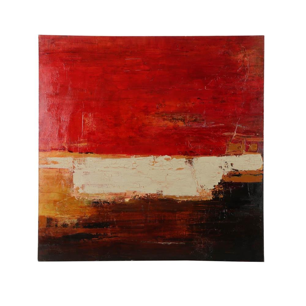 "Lisa Schafer Acrylic Painting ""Vintage I"""