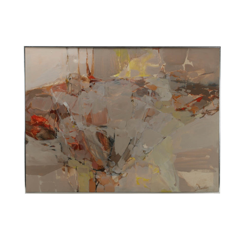 William Duebber Original Abstract Acrylic Painting on Canvas
