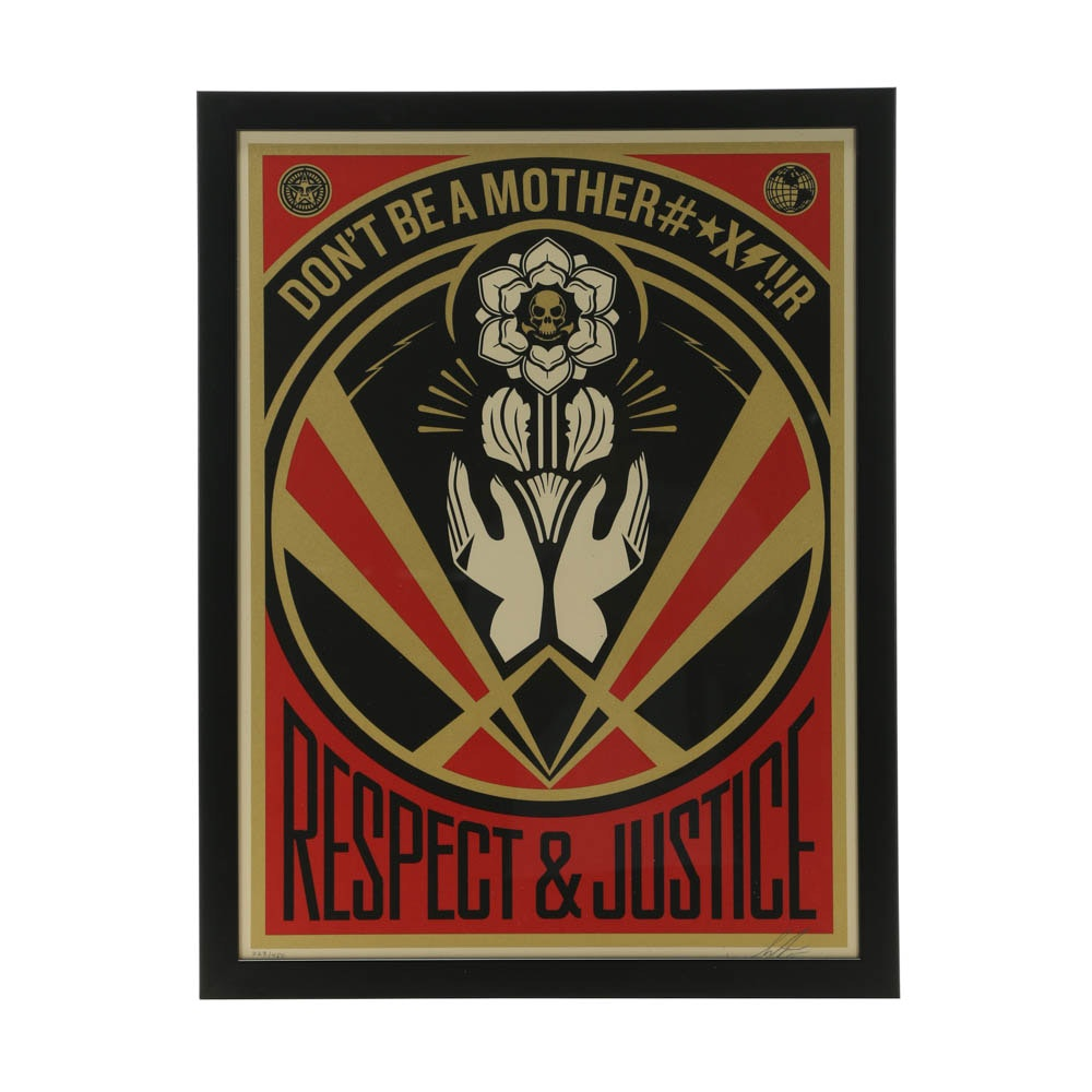 "Shepherd Fairey Limited Edition Serigraph ""Don't Be A MFR"""