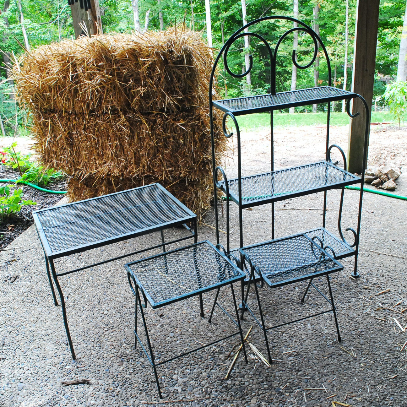 Set of Outdoor Side Tables or Plant Stands